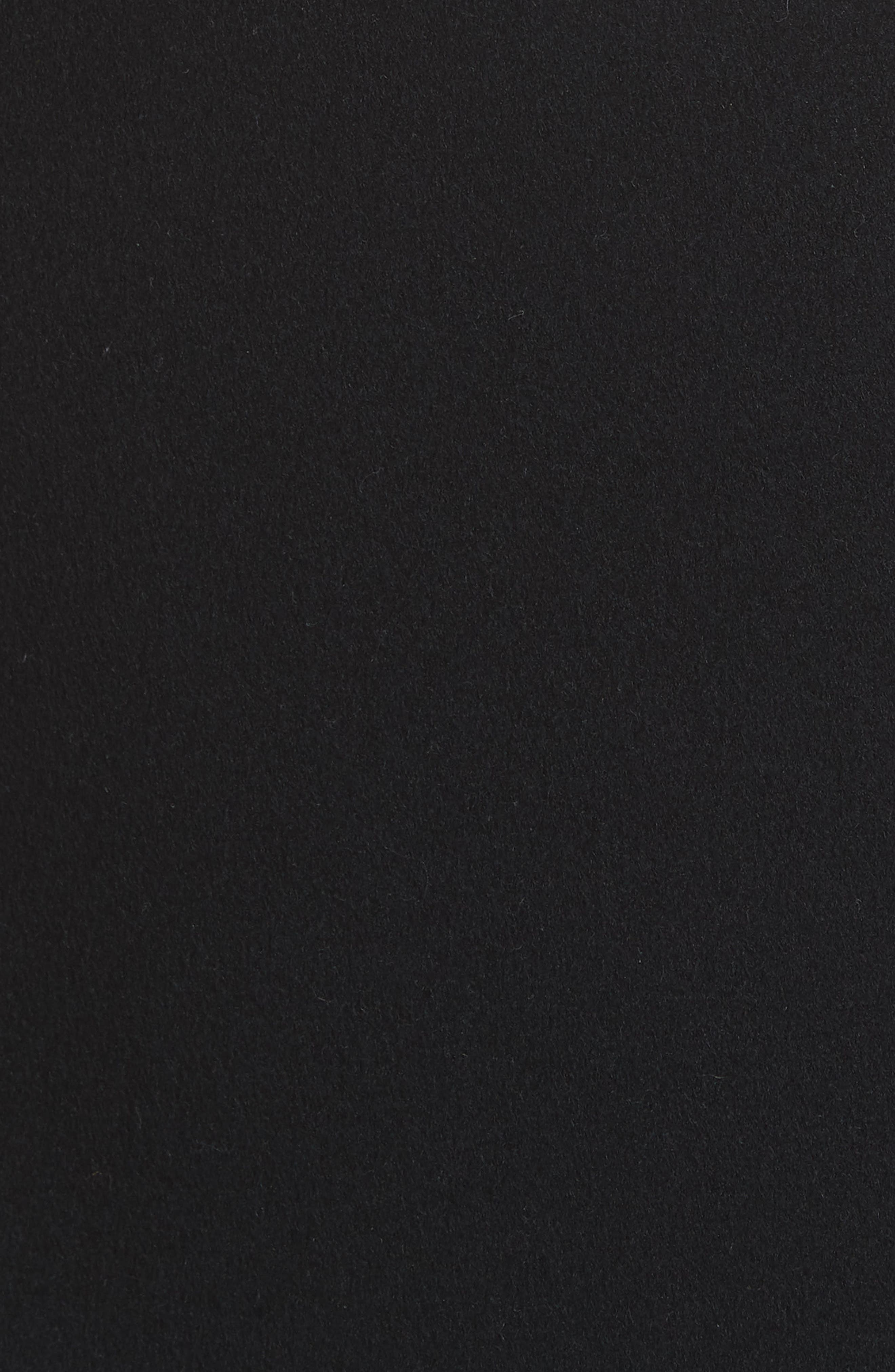 VLTN Logo Back Wool & Cashmere Coat,                             Alternate thumbnail 6, color,                             BLACK