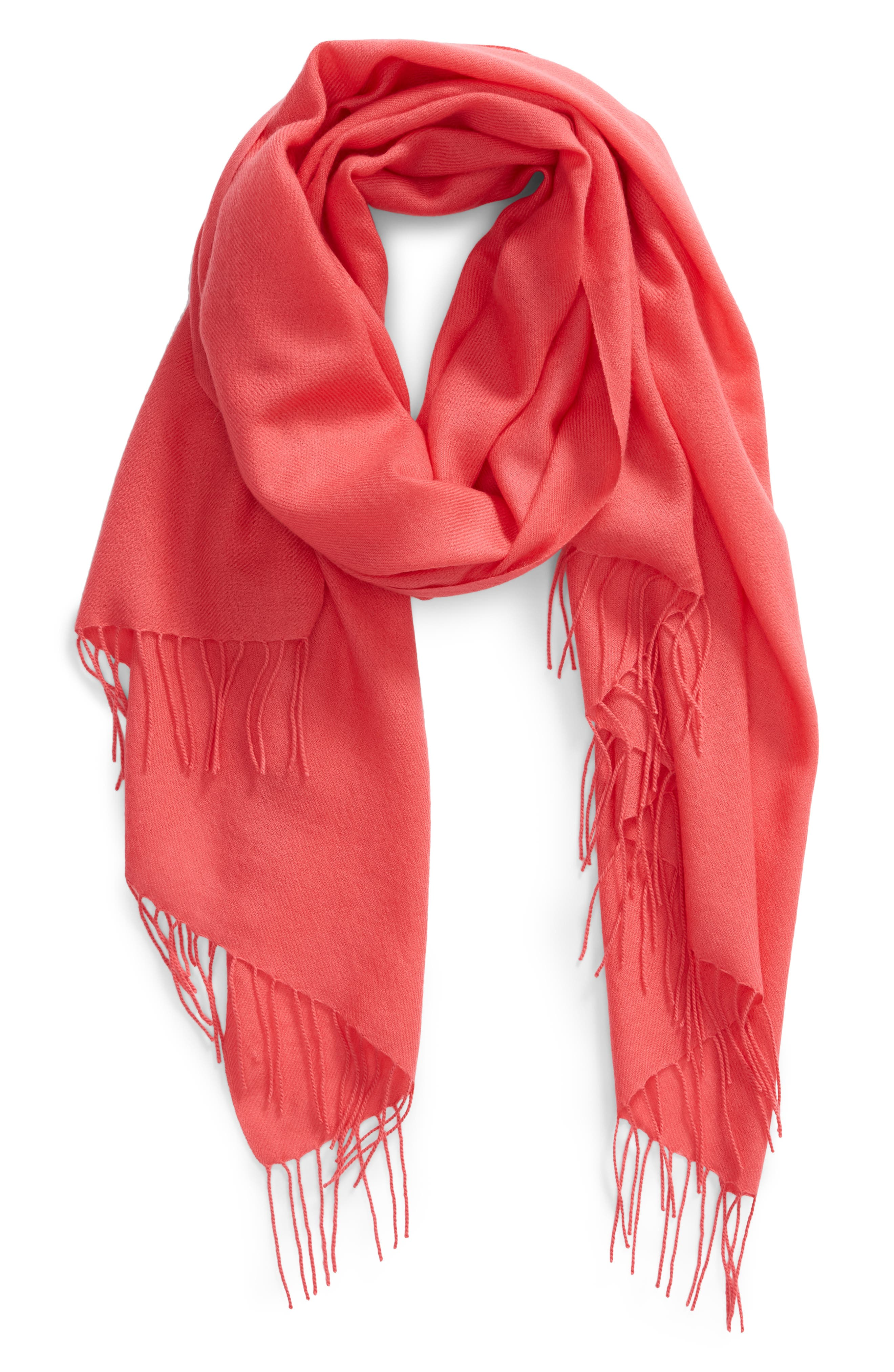 Tissue Weight Wool & Cashmere Scarf,                             Alternate thumbnail 80, color,