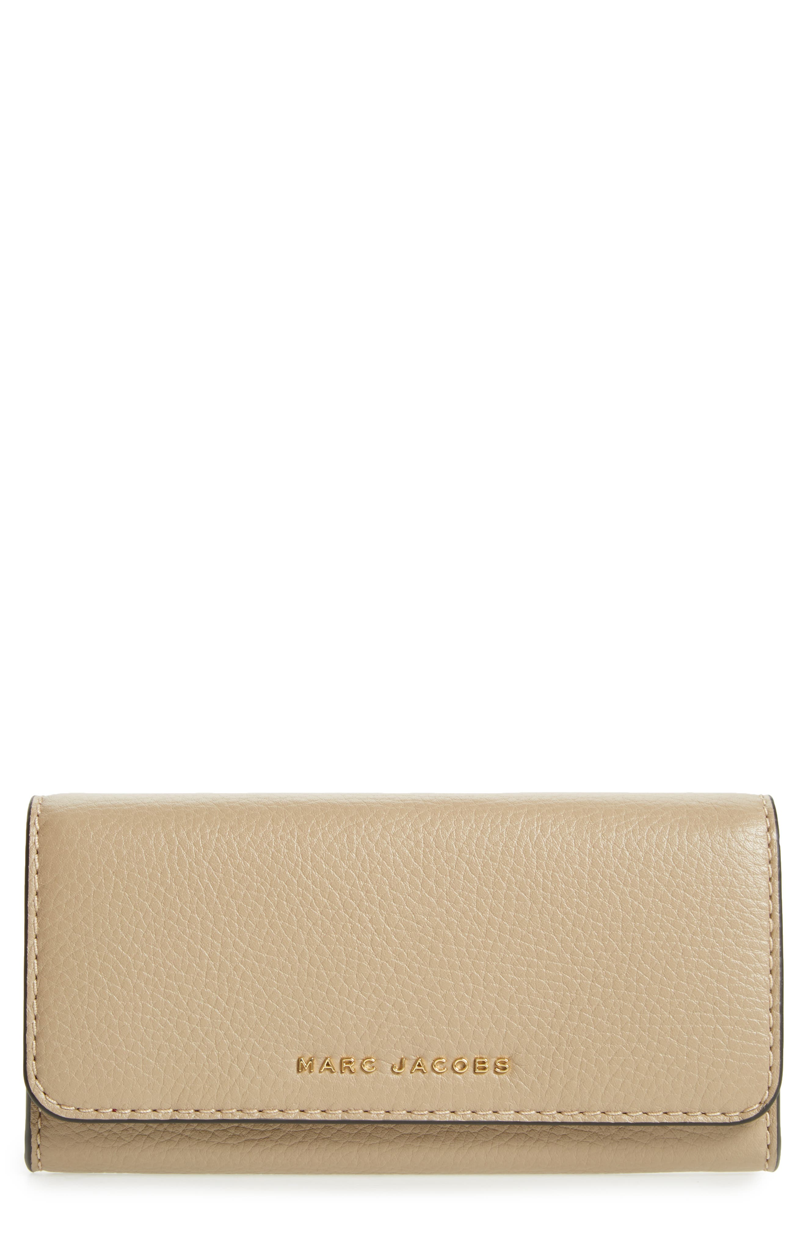 Leather Continental Wallet,                         Main,                         color, LIGHT SLATE