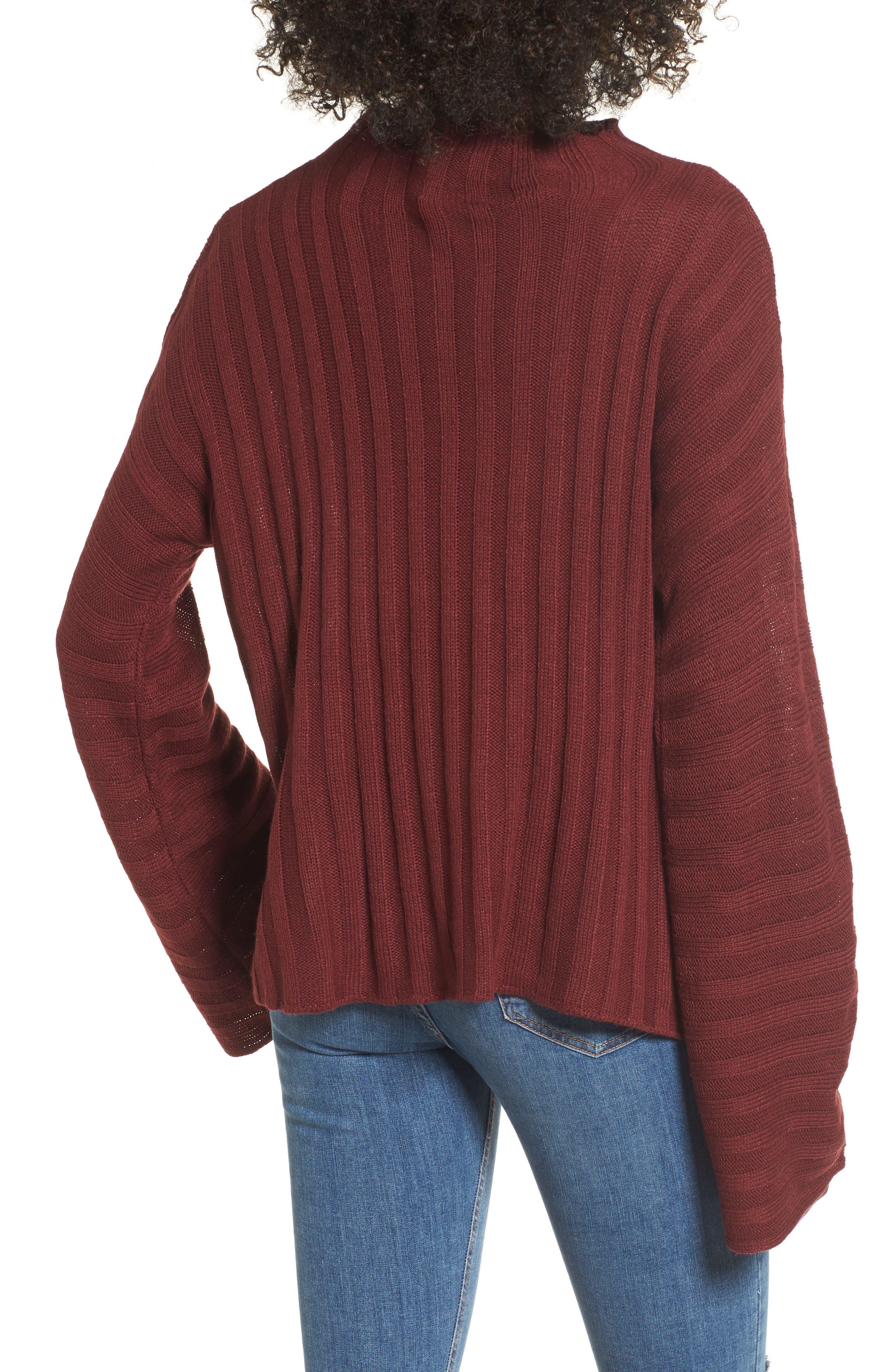 Wide Rib Mock Neck Sweater,                             Alternate thumbnail 6, color,