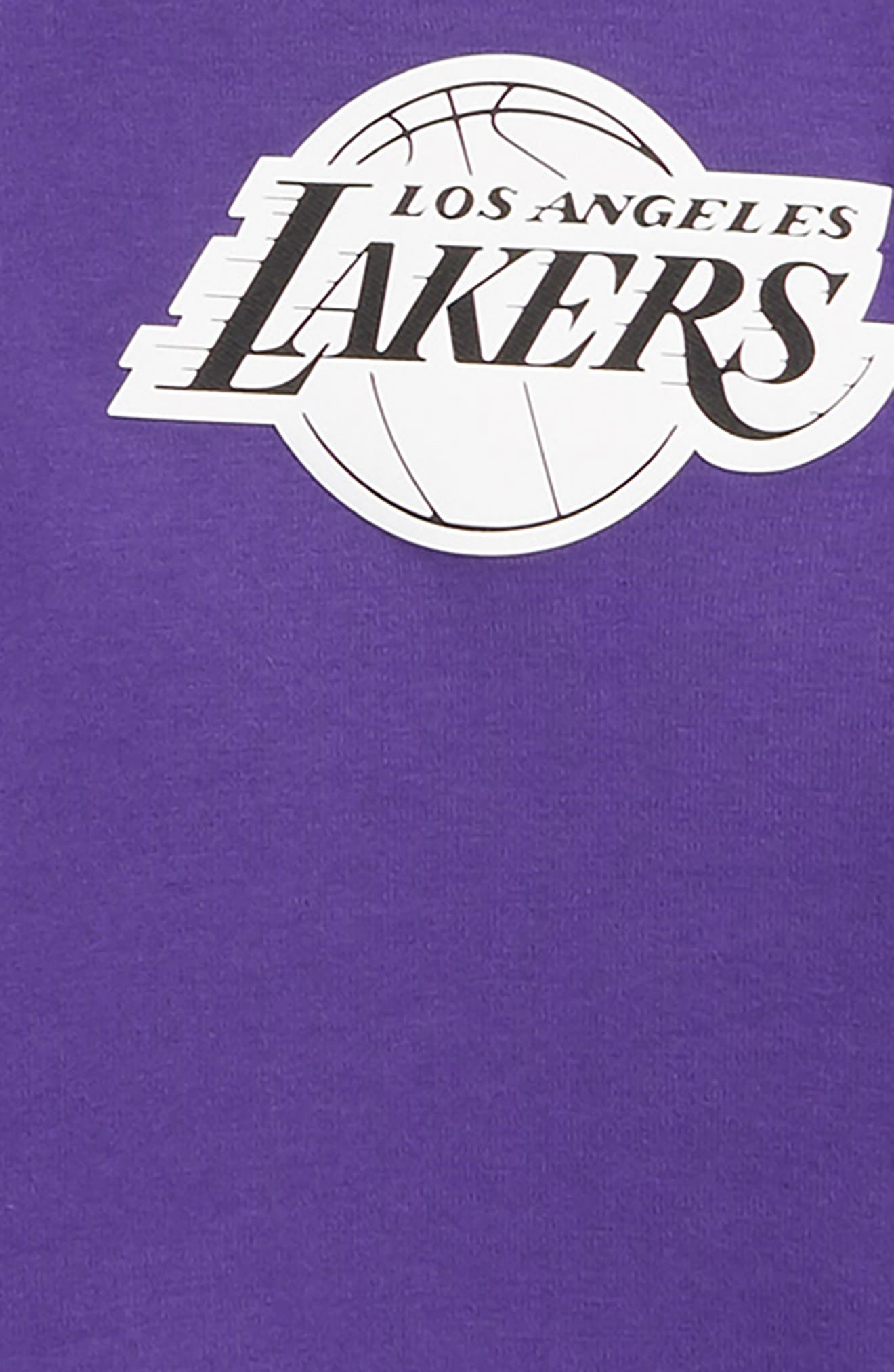 NIKE,                             Los Angeles Lakers Showtime Dri-FIT Hoodie,                             Alternate thumbnail 2, color,                             PURPLE