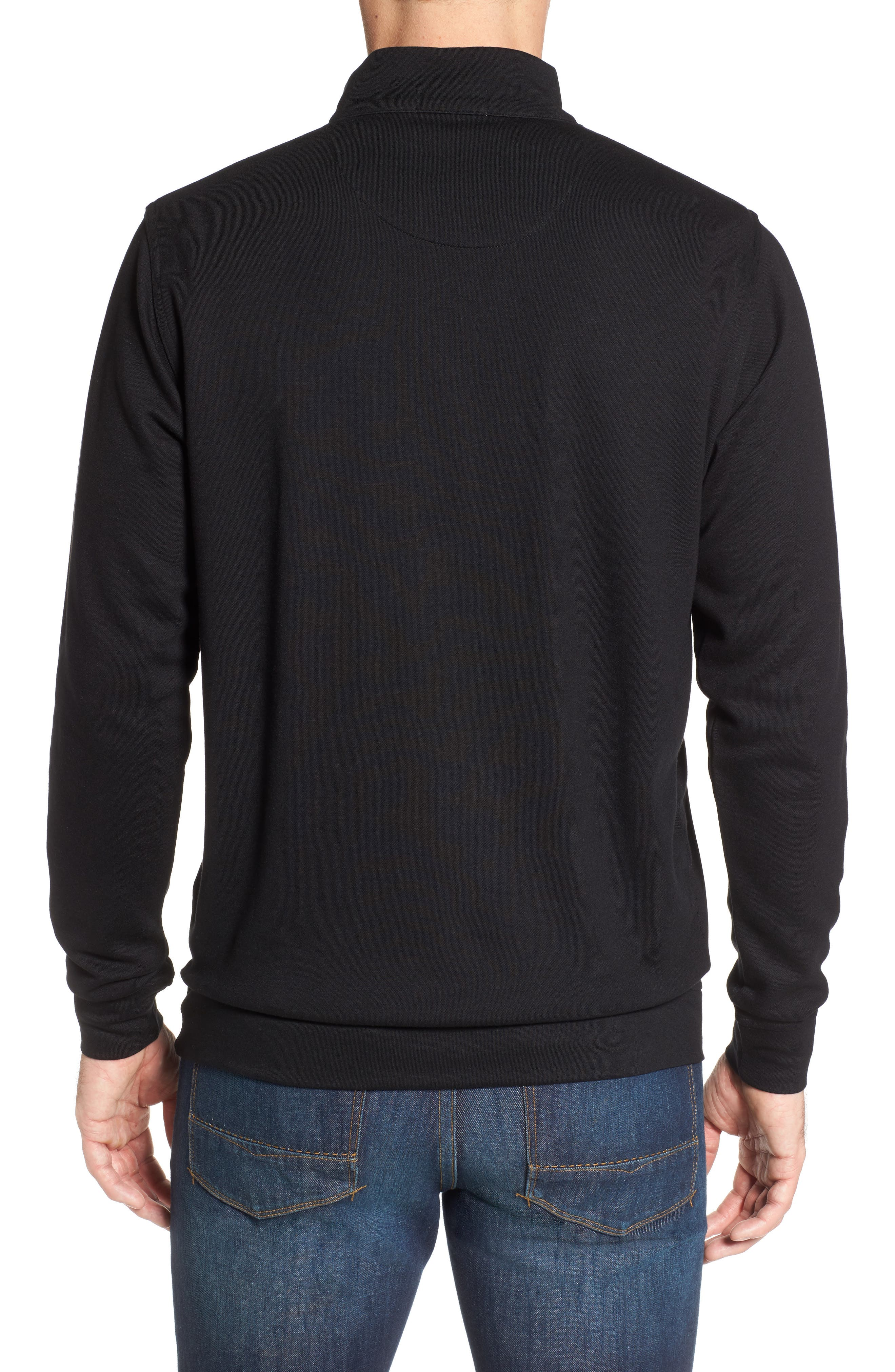 Crown Comfort Jersey Quarter Zip Pullover,                             Alternate thumbnail 2, color,                             001