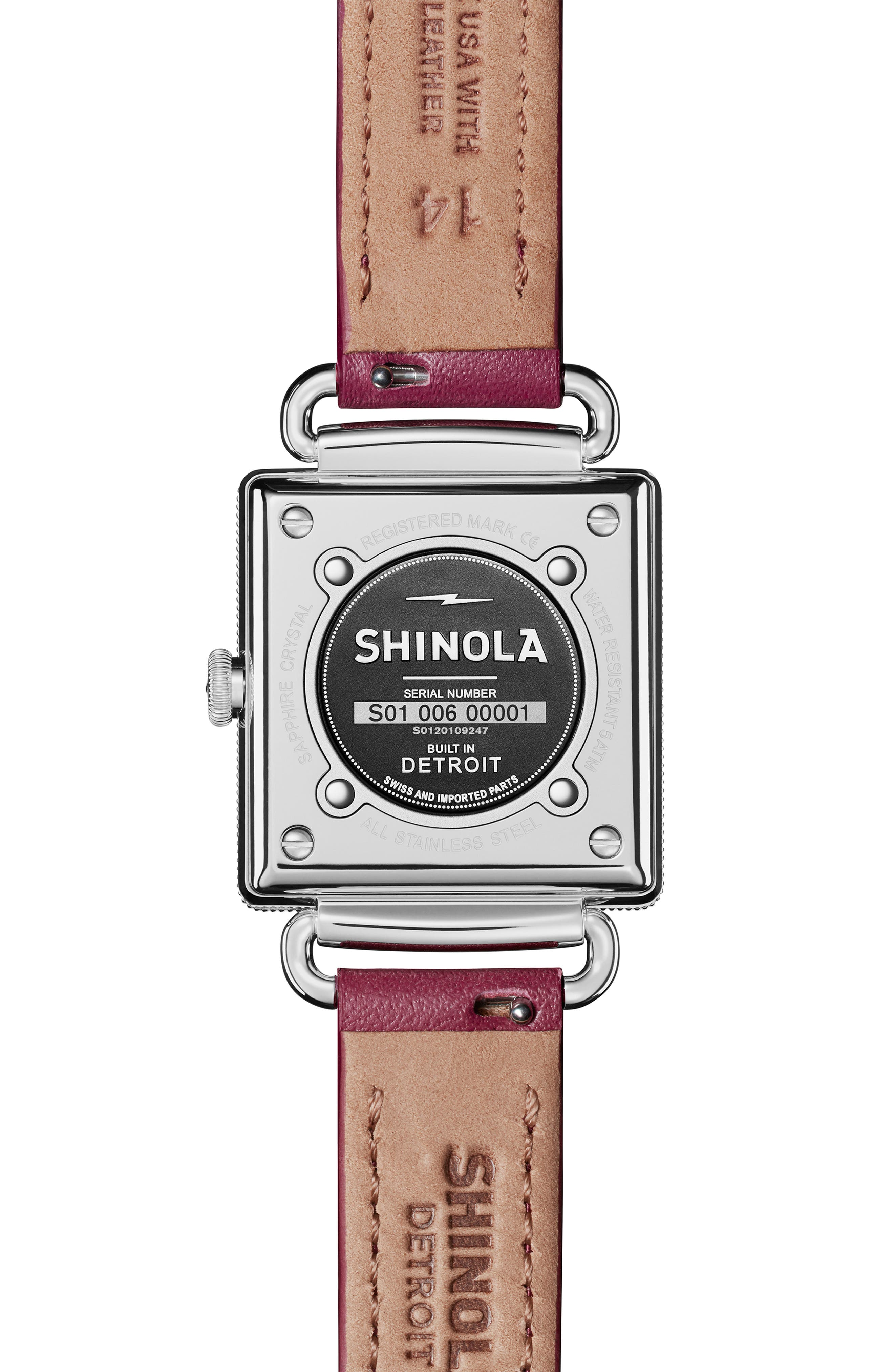 Cass Leather Strap Watch, 28mm,                             Alternate thumbnail 2, color,                             BERRY/ WHITE MOP/ SILVER