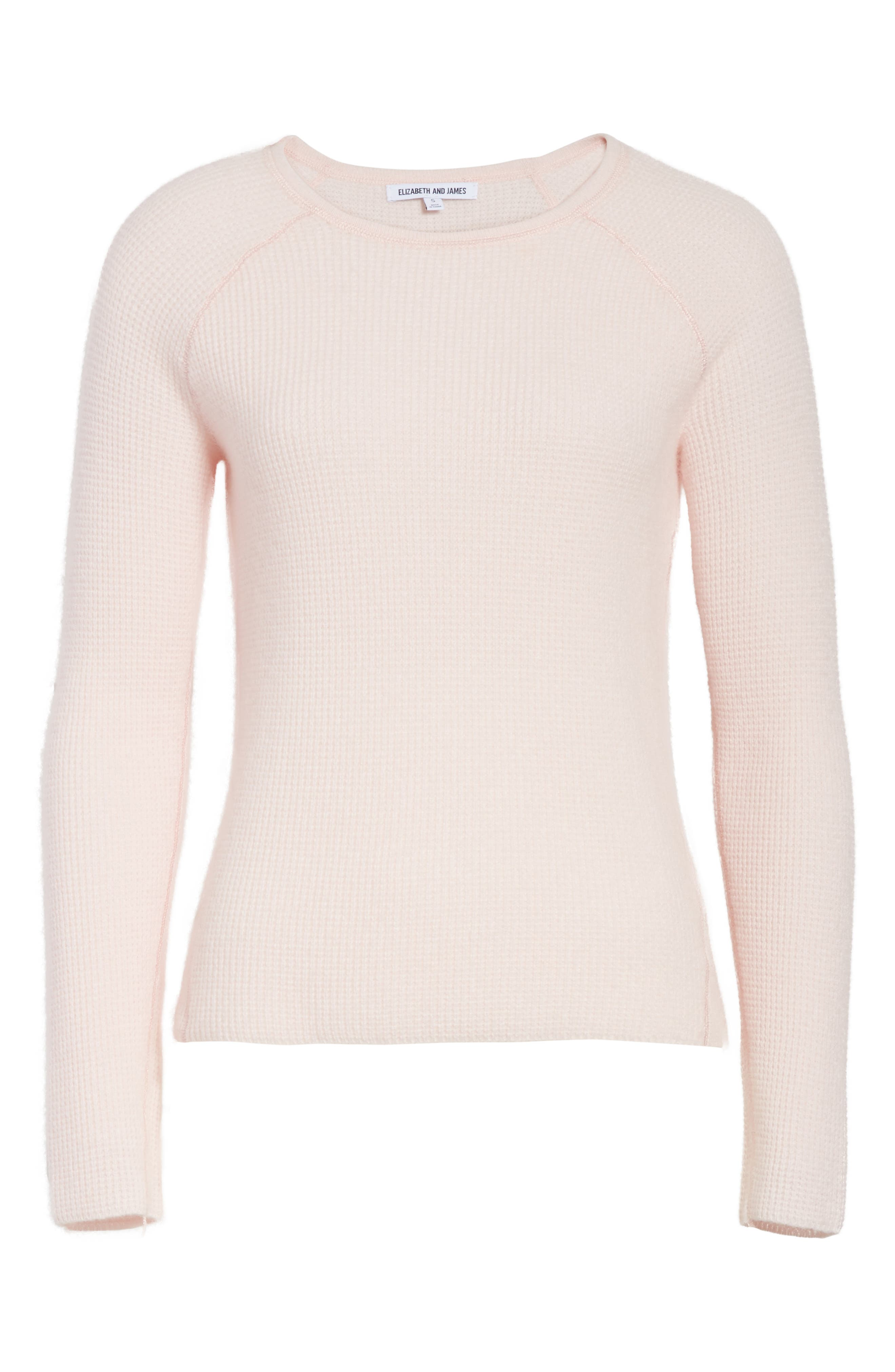 Karina Waffle Knit Cashmere Sweater,                             Alternate thumbnail 6, color,                             684