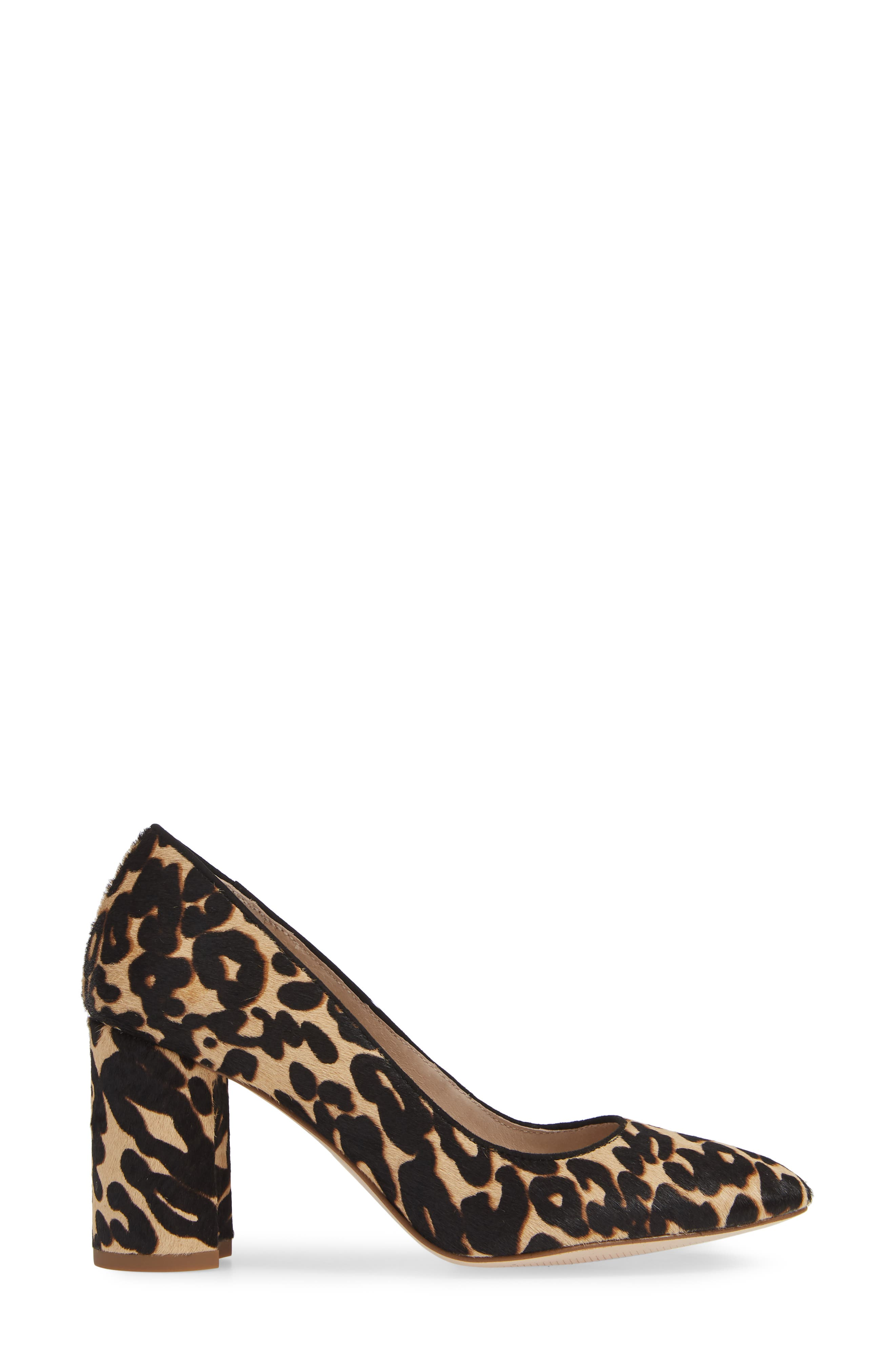 Jalzy Genuine Calf Hair Pump,                             Alternate thumbnail 3, color,                             LEOPARD