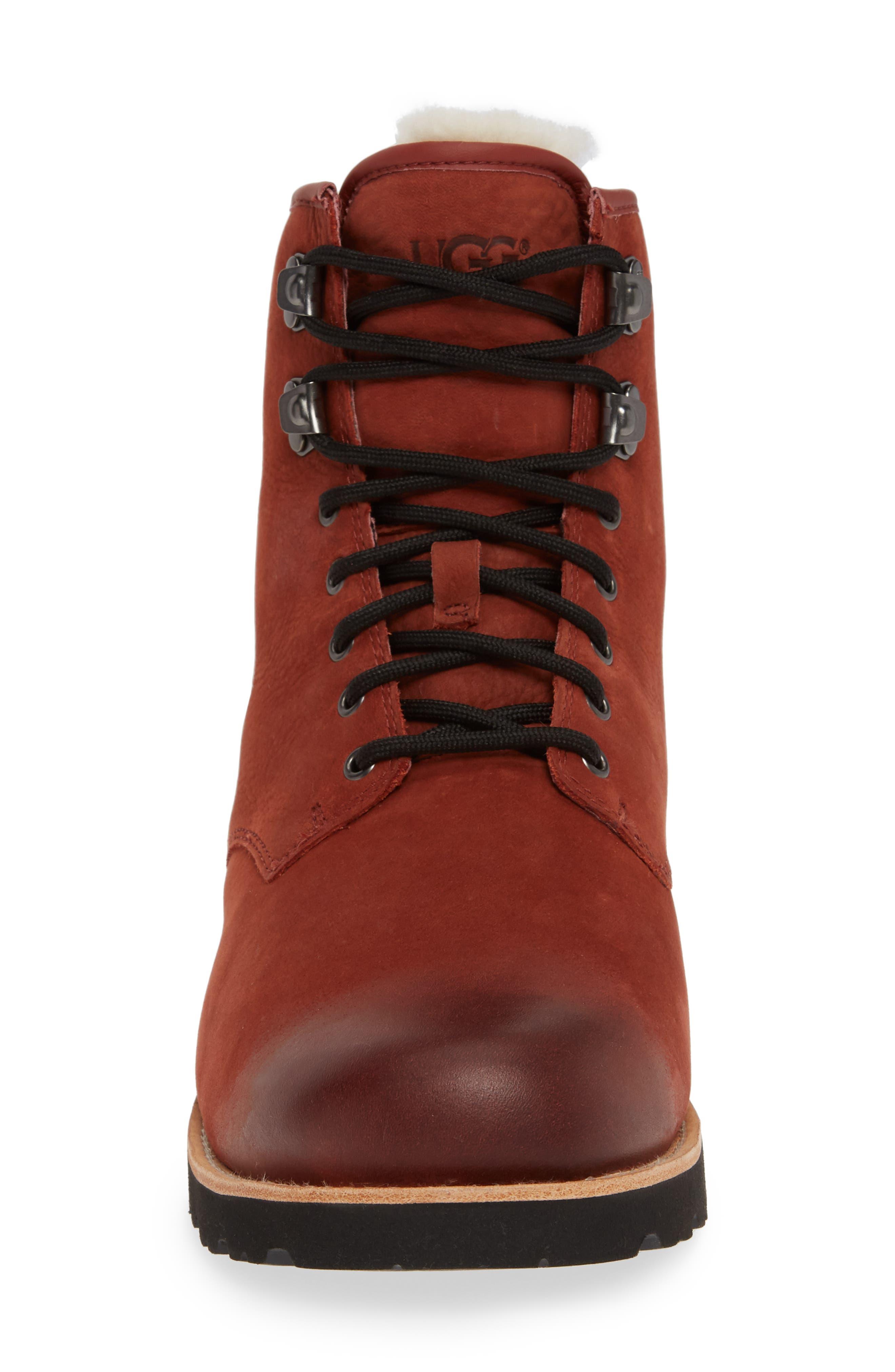 Hannen Waterproof Boot,                             Alternate thumbnail 4, color,                             RED OXIDE