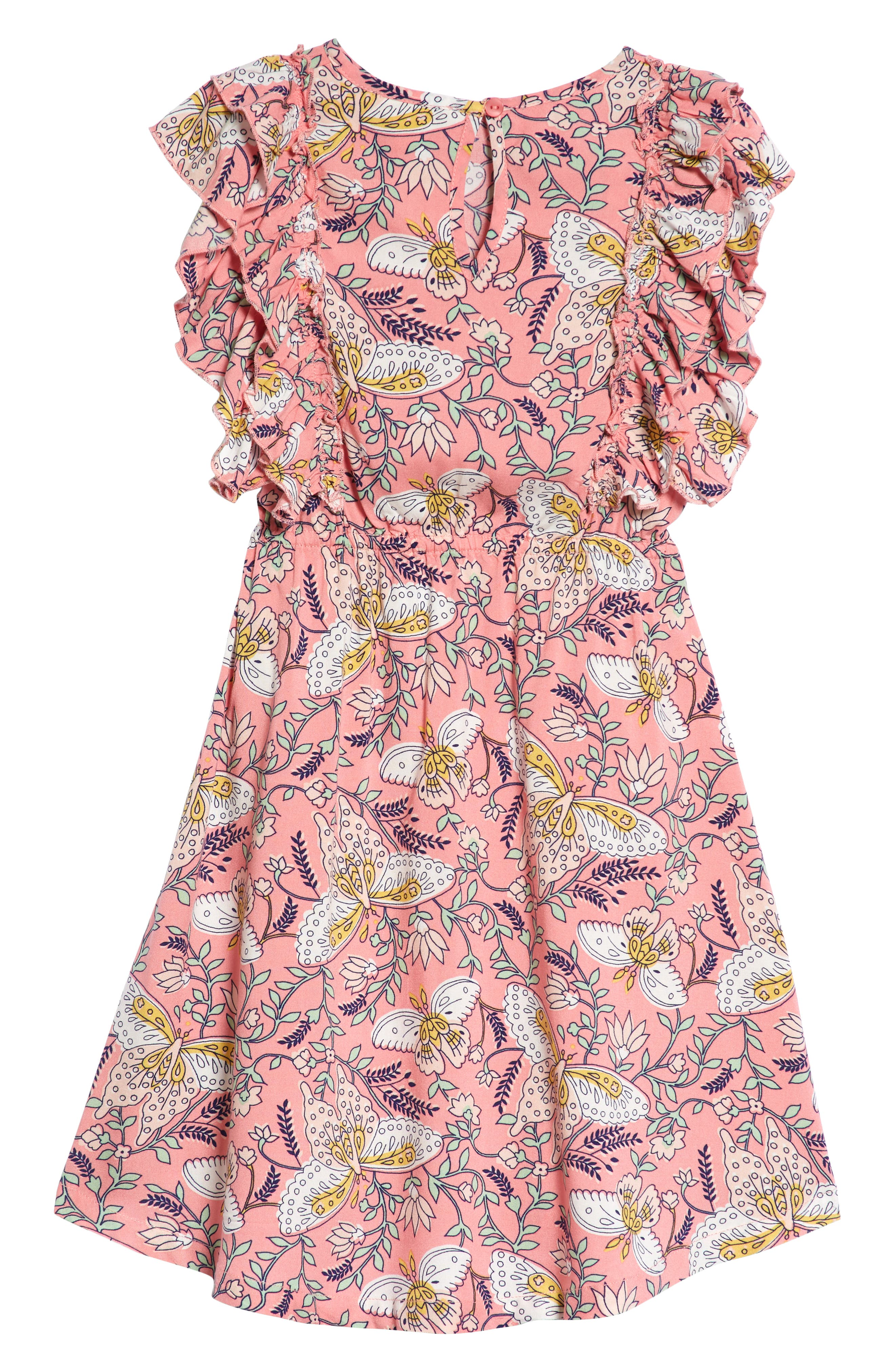 Print Ruffle Dress,                             Alternate thumbnail 2, color,                             660