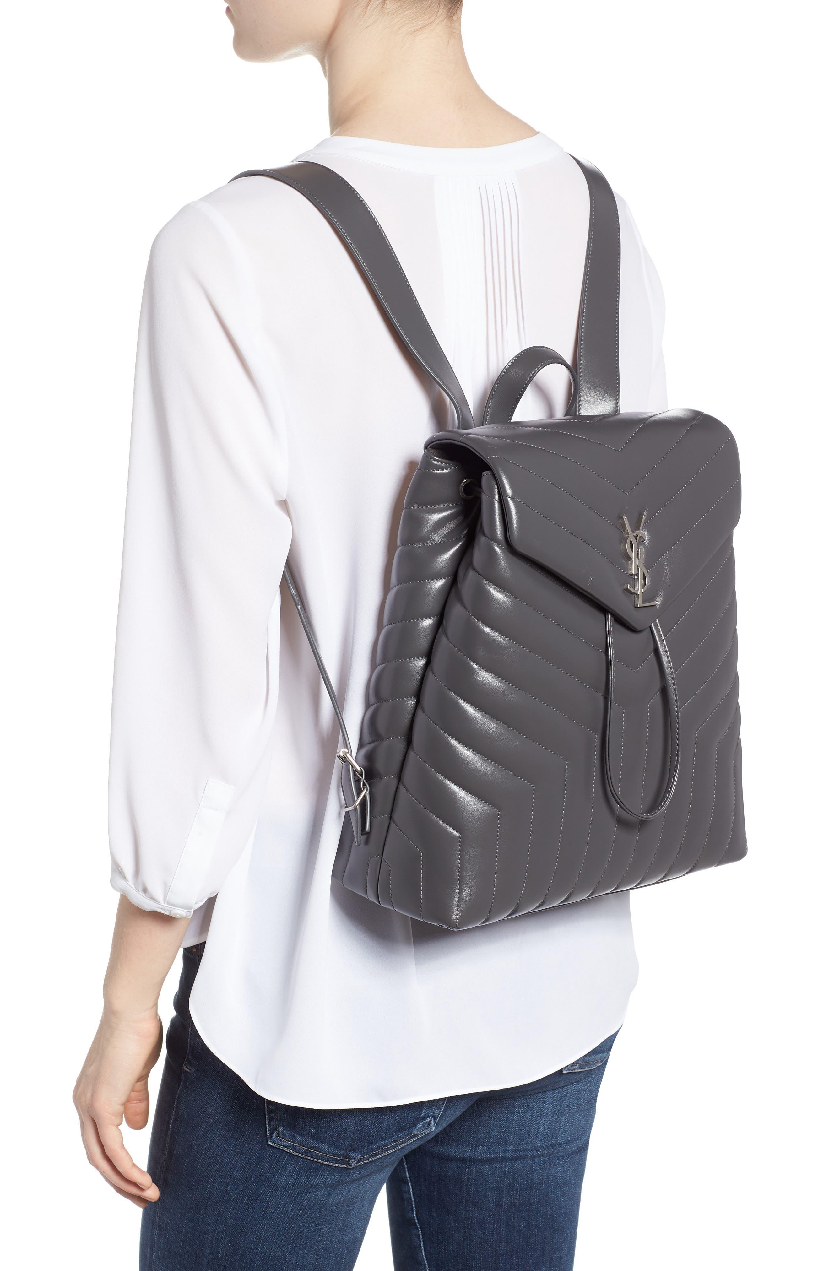 Medium Loulou Calfskin Leather Backpack,                             Alternate thumbnail 2, color,                             021