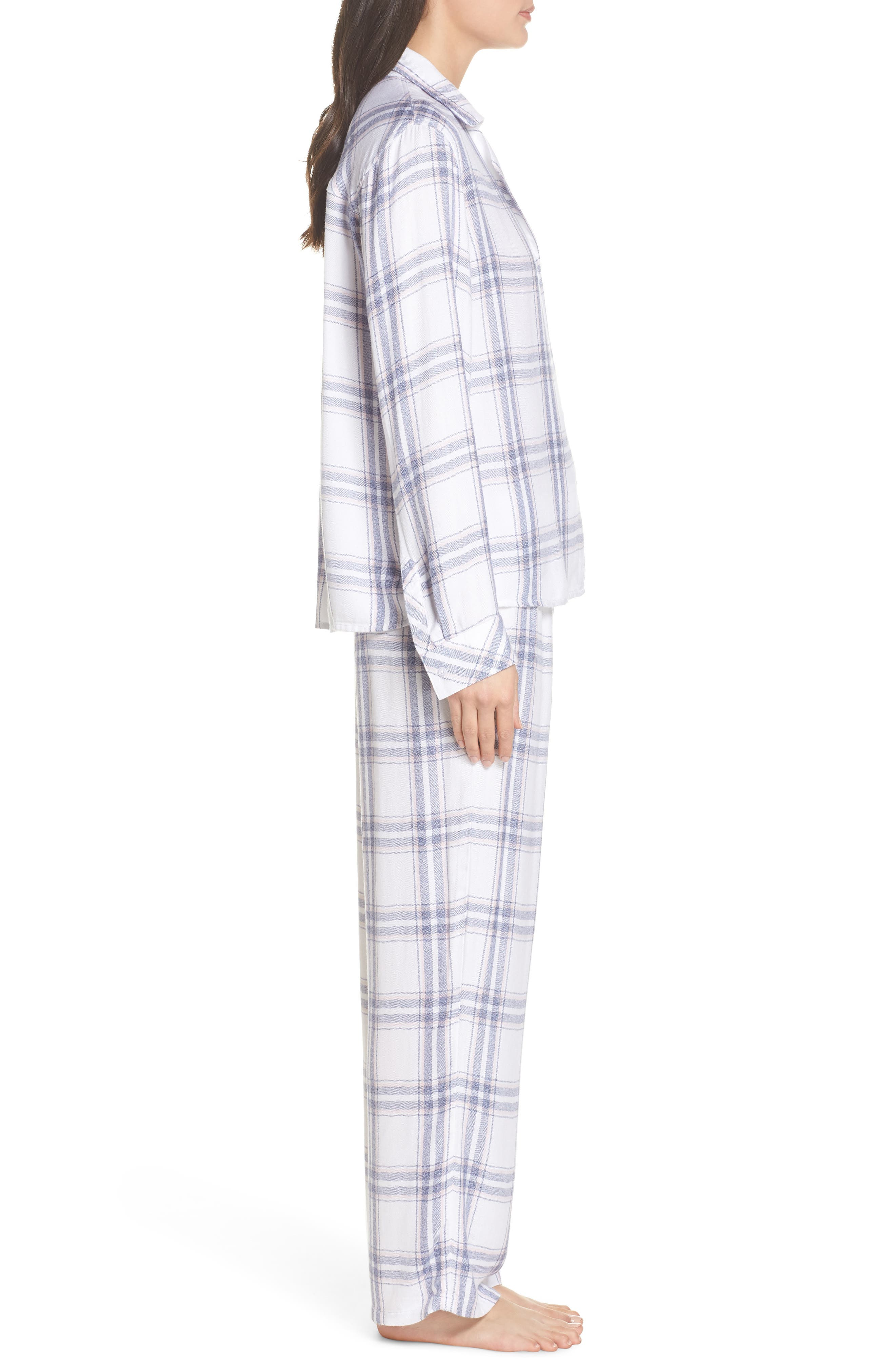 Trouser Pajamas,                             Alternate thumbnail 3, color,                             IVORY SKY BLUSH