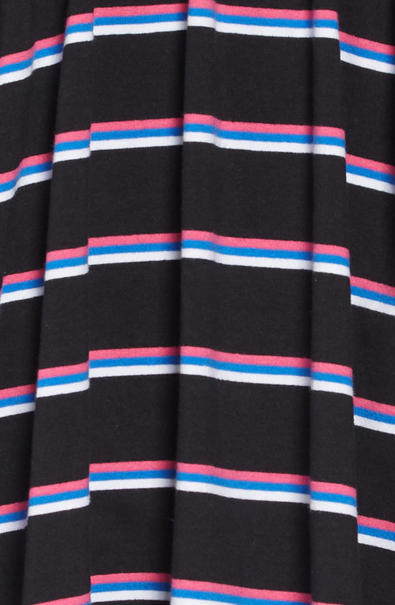 Easy Stripe Dress,                             Alternate thumbnail 3, color,                             BLACK MULTI STRIPE