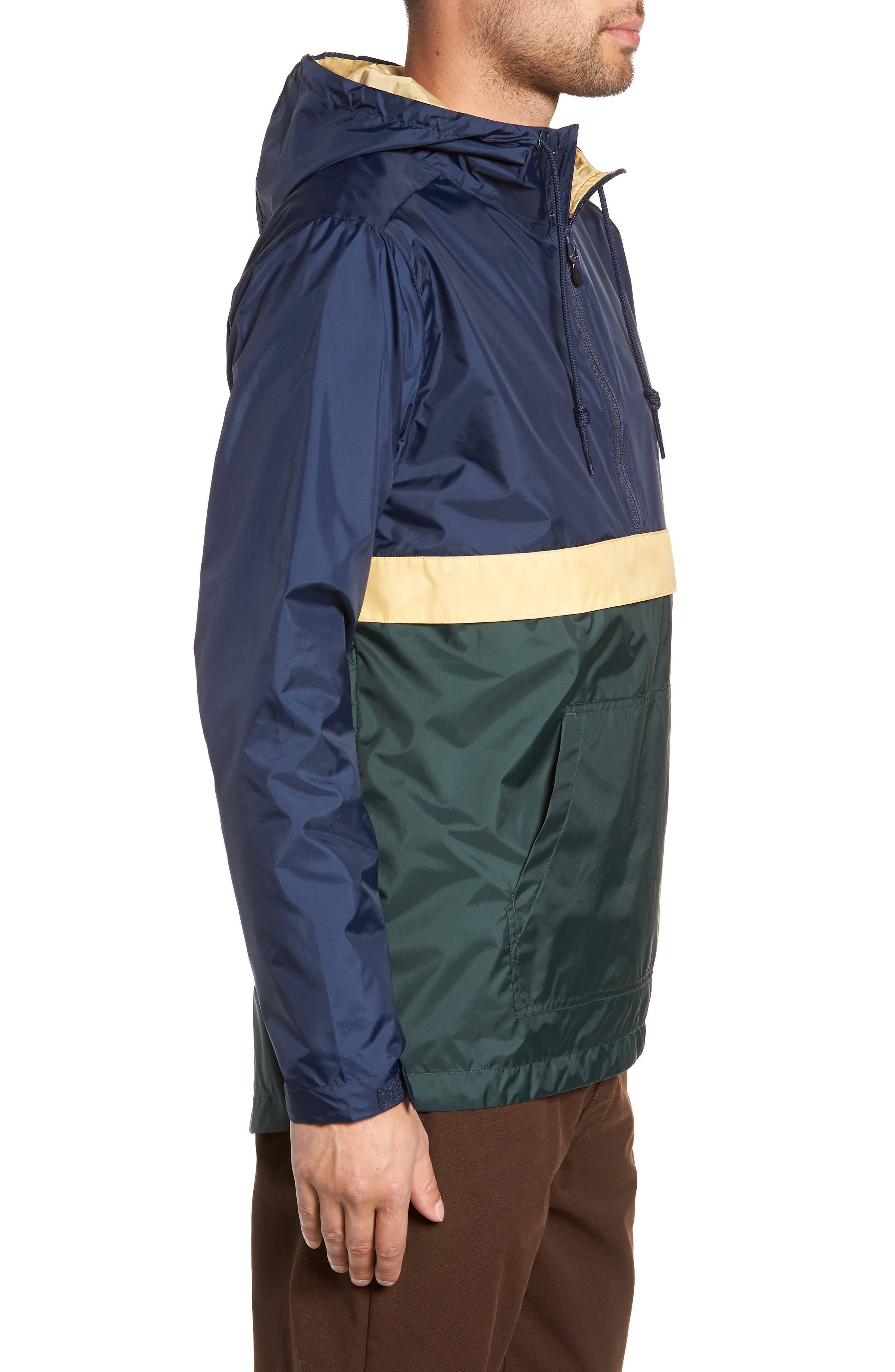 Stoneridge Anorak,                             Alternate thumbnail 3, color,                             DARKEST SPRUCE/ DRESS BLUES