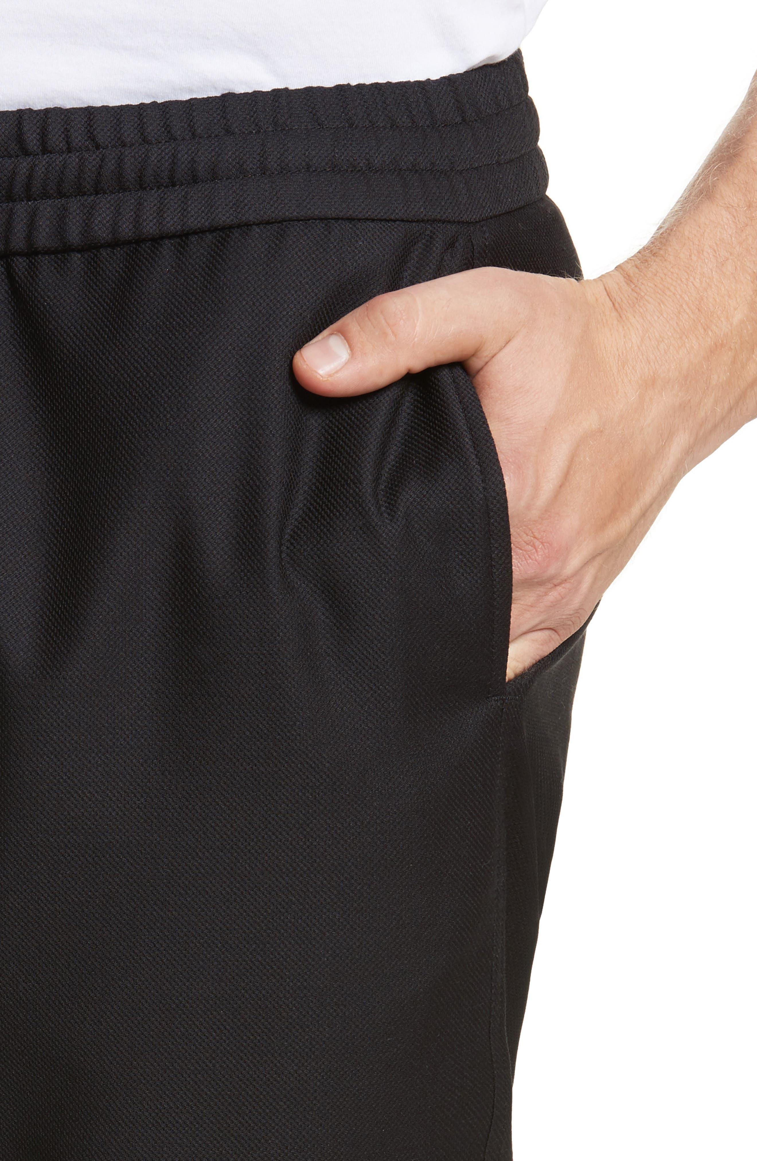Drawstring Wool Trousers,                             Alternate thumbnail 4, color,                             001