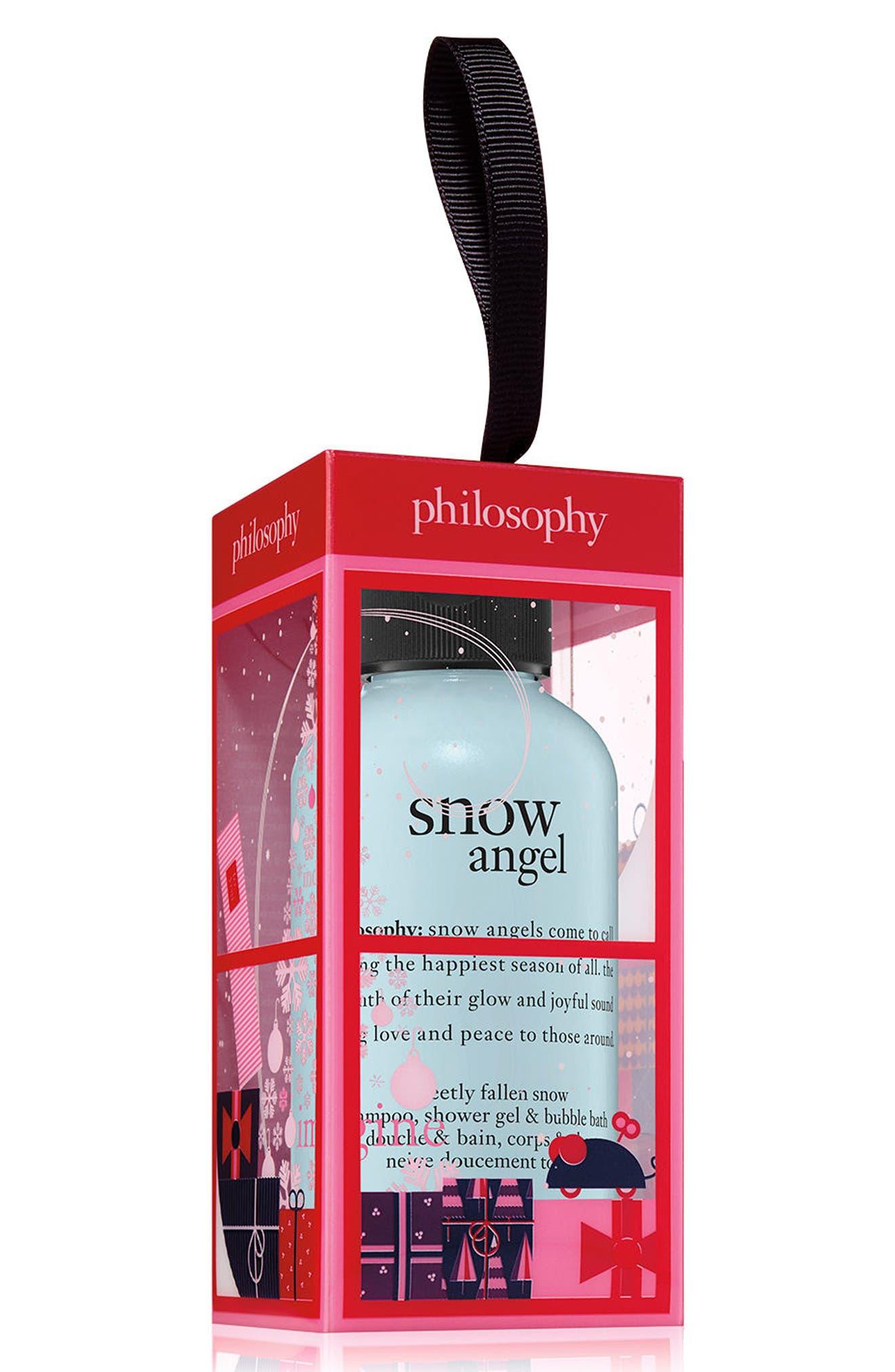 snow angel shampoo, shower gel & bubble bath ornament,                         Main,                         color,