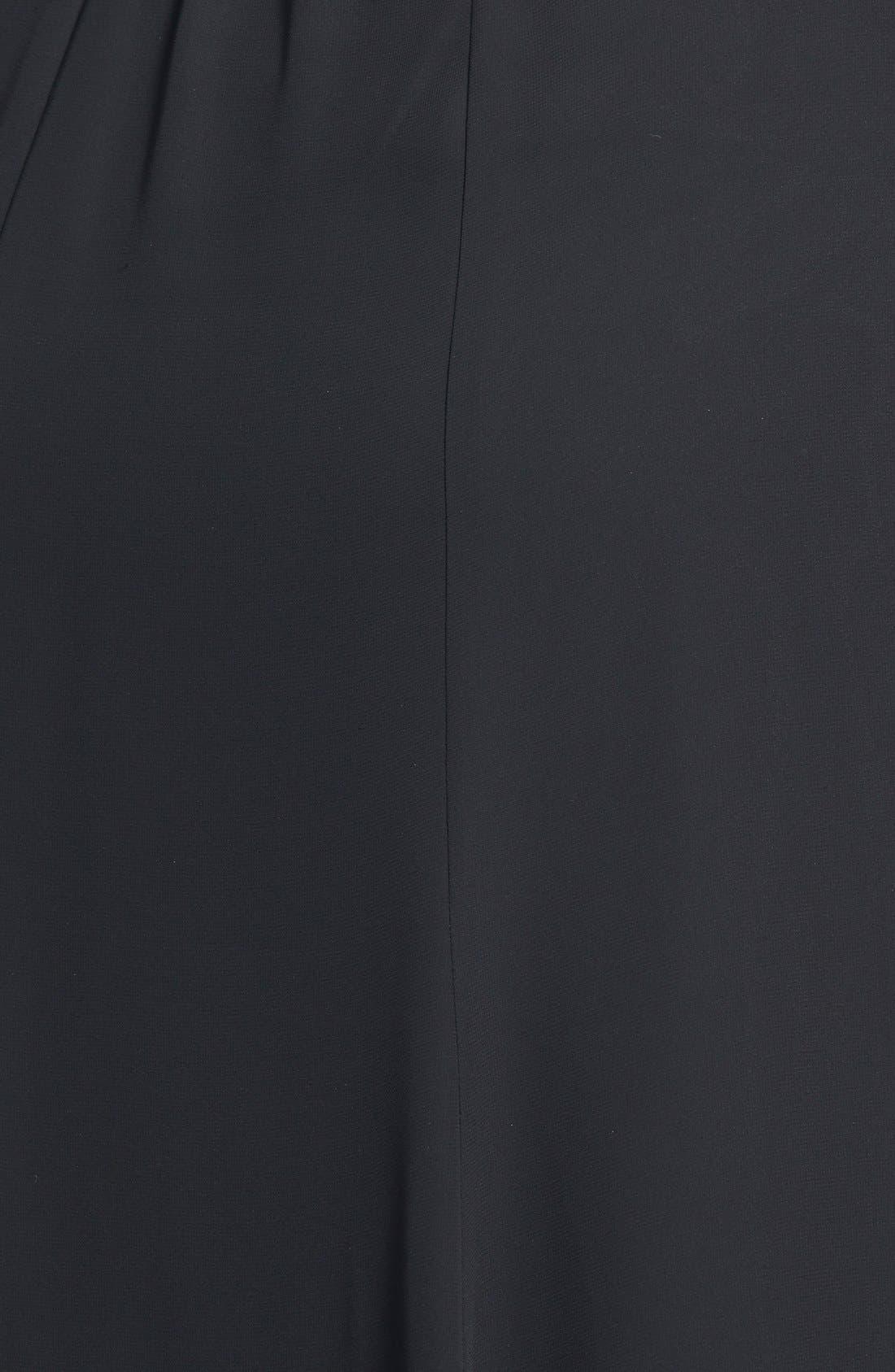 Chiffon Skirt,                             Alternate thumbnail 5, color,                             BLACK