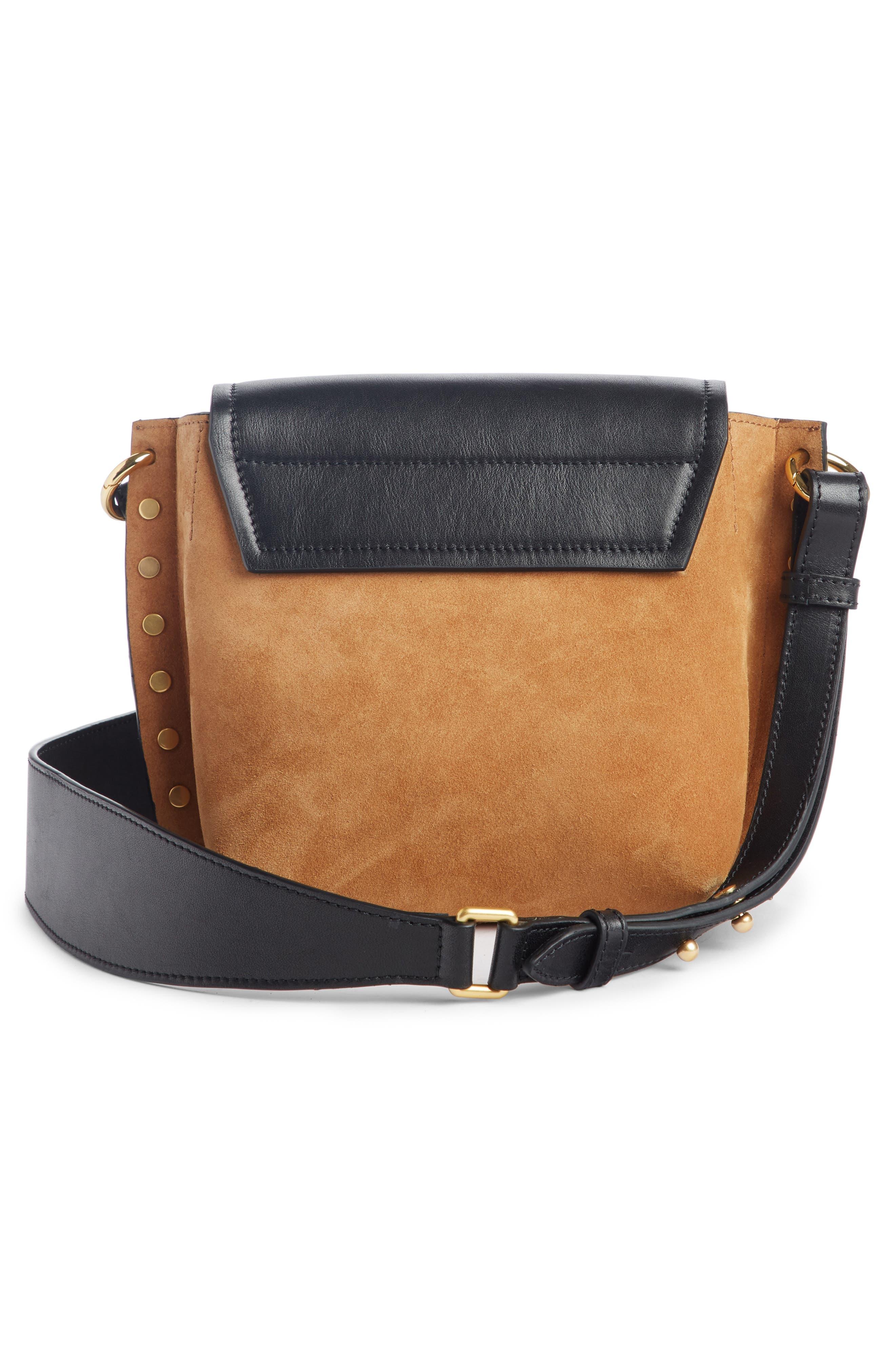 Kleny Colorblock Leather & Suede Shoulder Bag,                             Alternate thumbnail 2, color,                             CAMEL