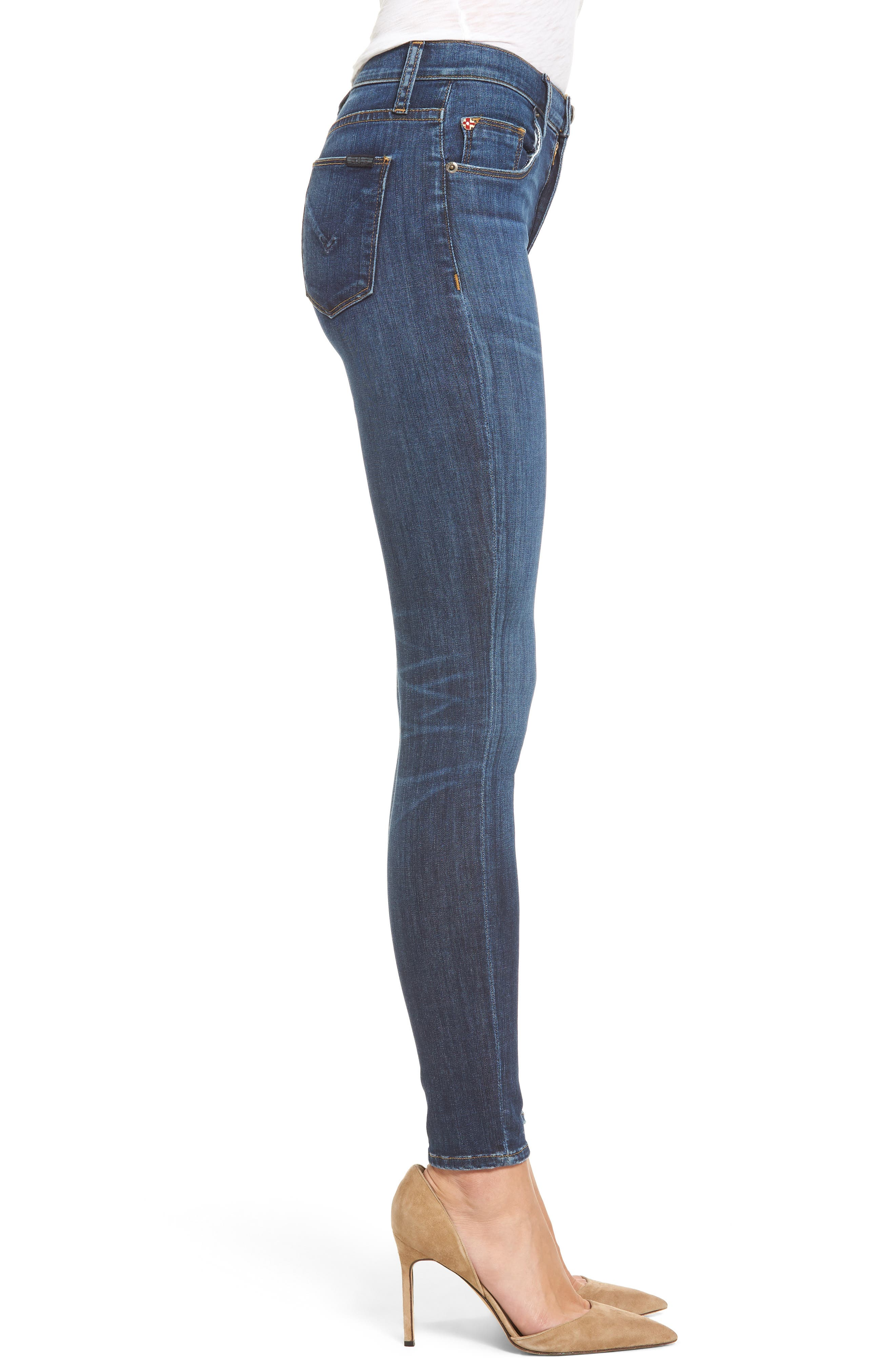 'Barbara' High Rise Super Skinny Jeans,                             Alternate thumbnail 3, color,                             401