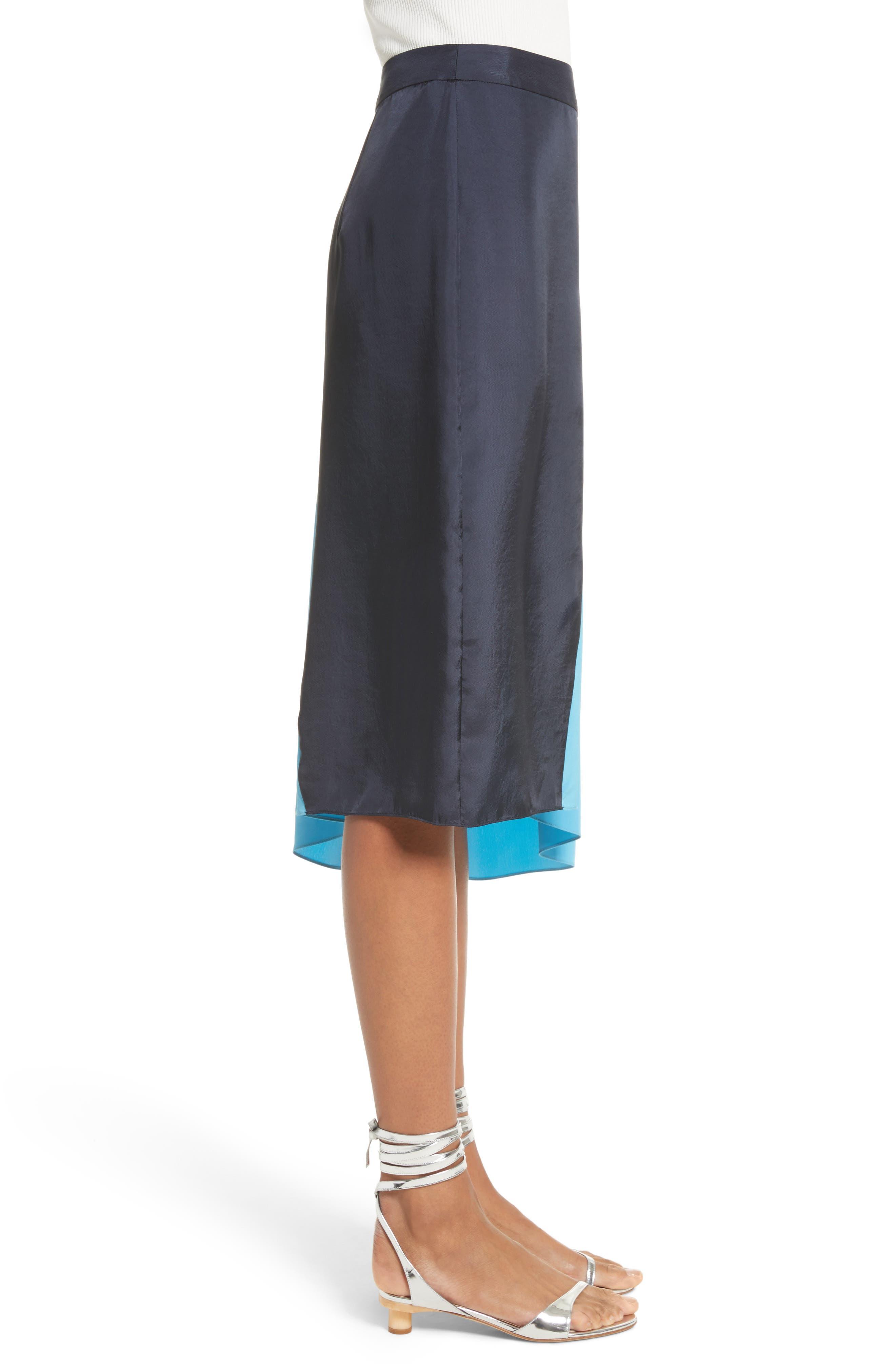 Colorblock Skirt,                             Alternate thumbnail 3, color,                             404