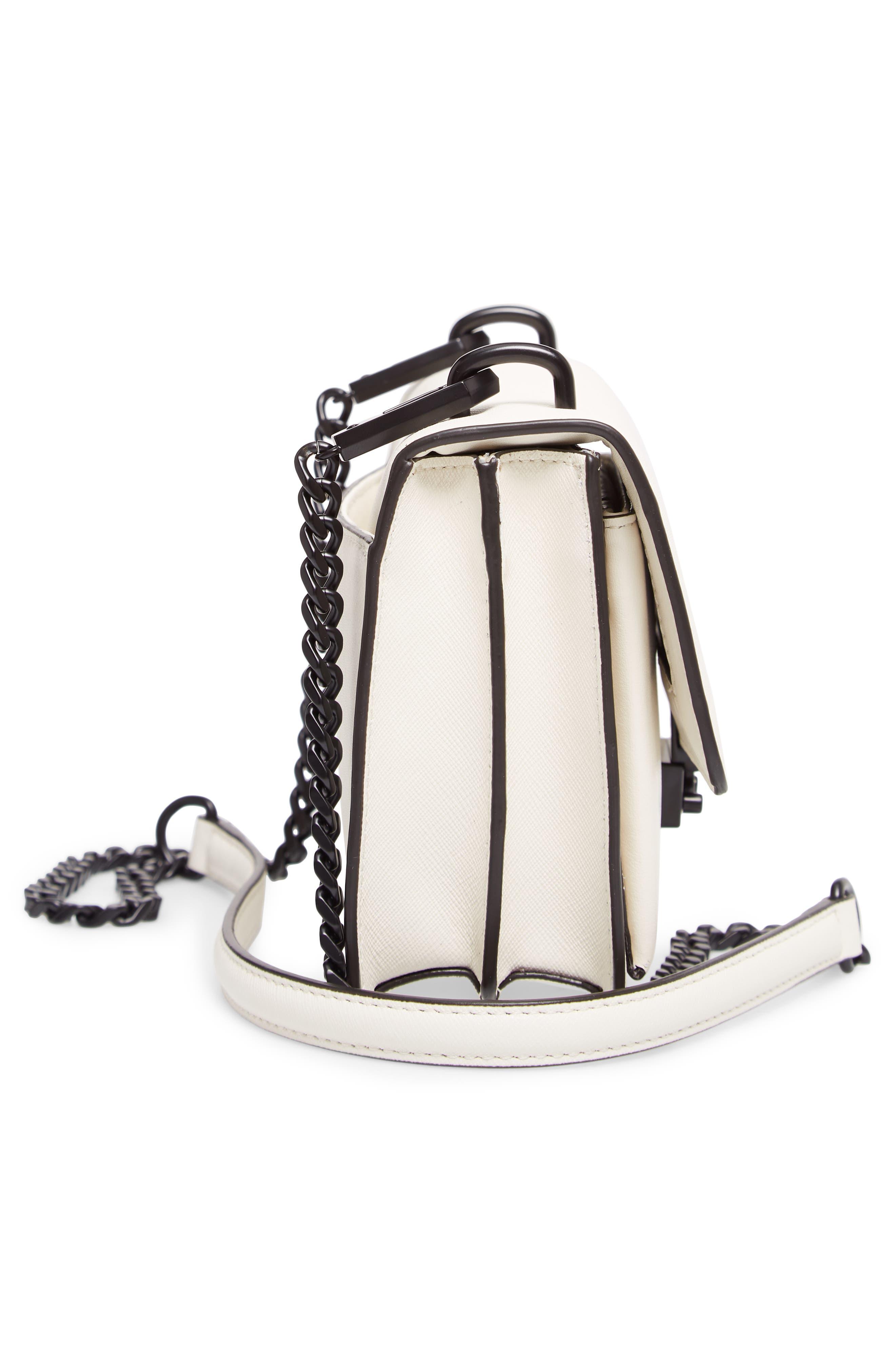 Medium Christy Leather Shoulder Bag,                             Alternate thumbnail 21, color,