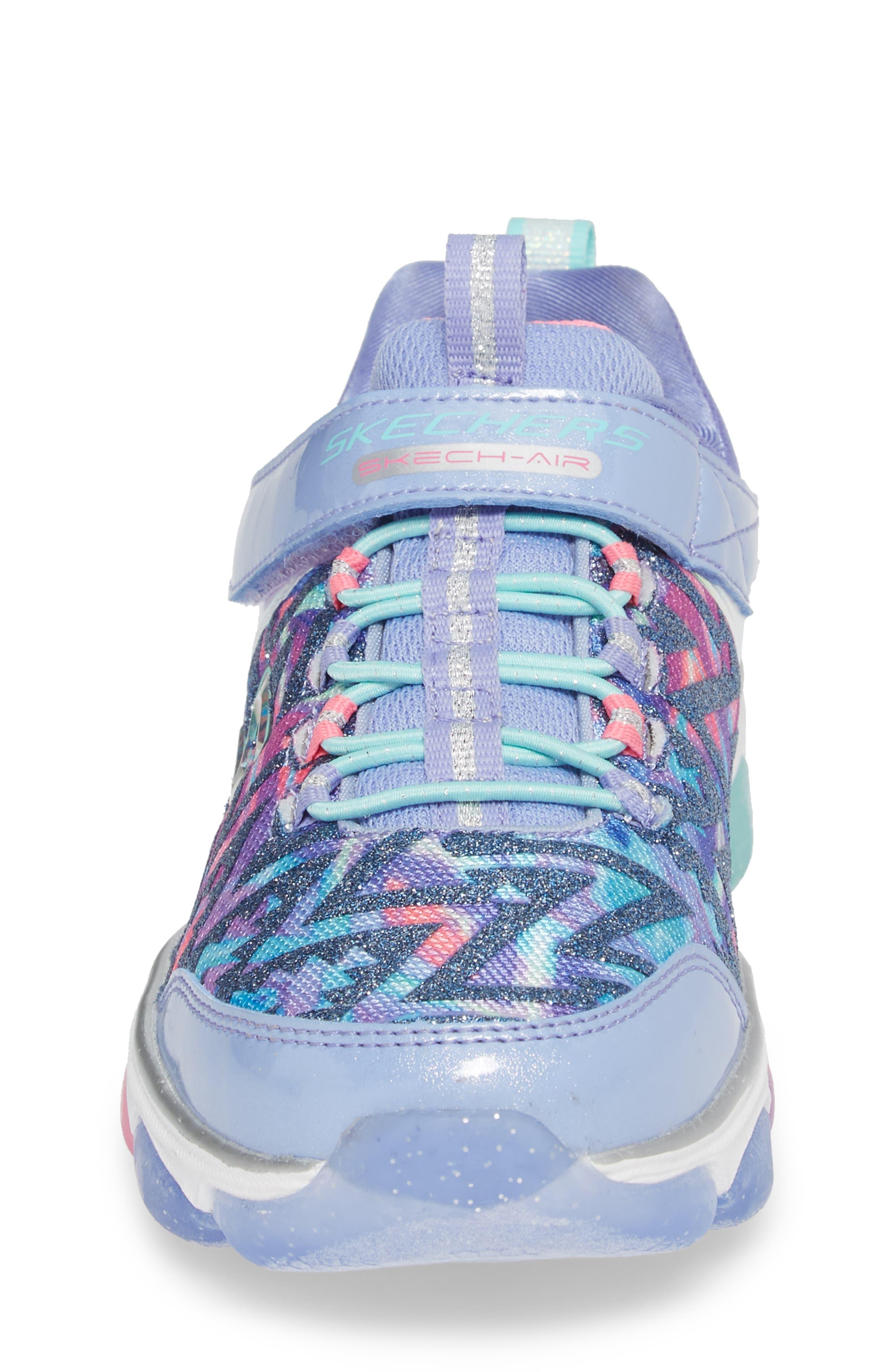 Skech-Air Groove Glitter N Go Sneakers,                             Alternate thumbnail 4, color,                             500