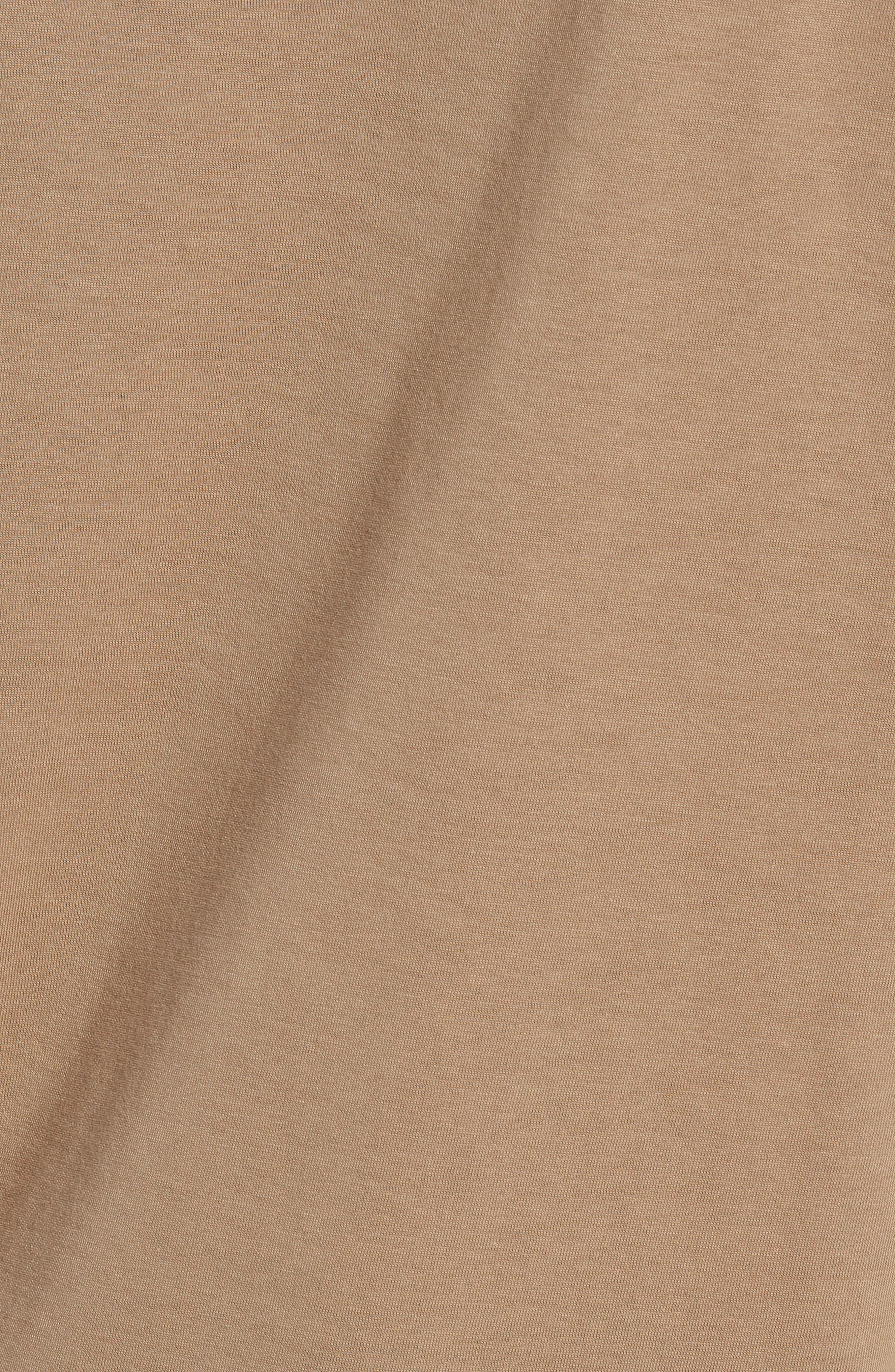Pima Cotton T-Shirt,                             Alternate thumbnail 5, color,                             KRAFT BEIGE