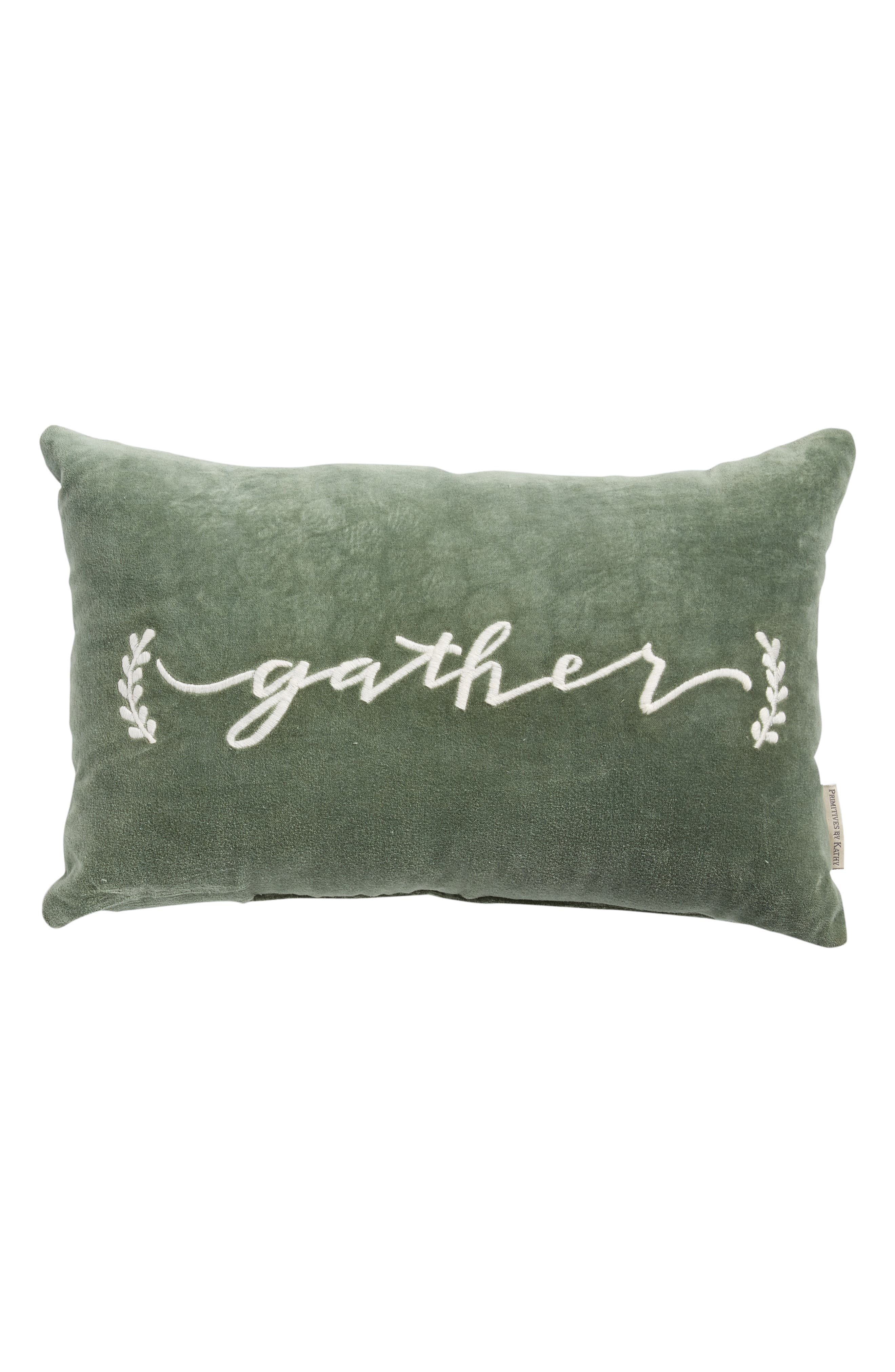 Gather Velvet AccentPillow,                         Main,                         color, 310