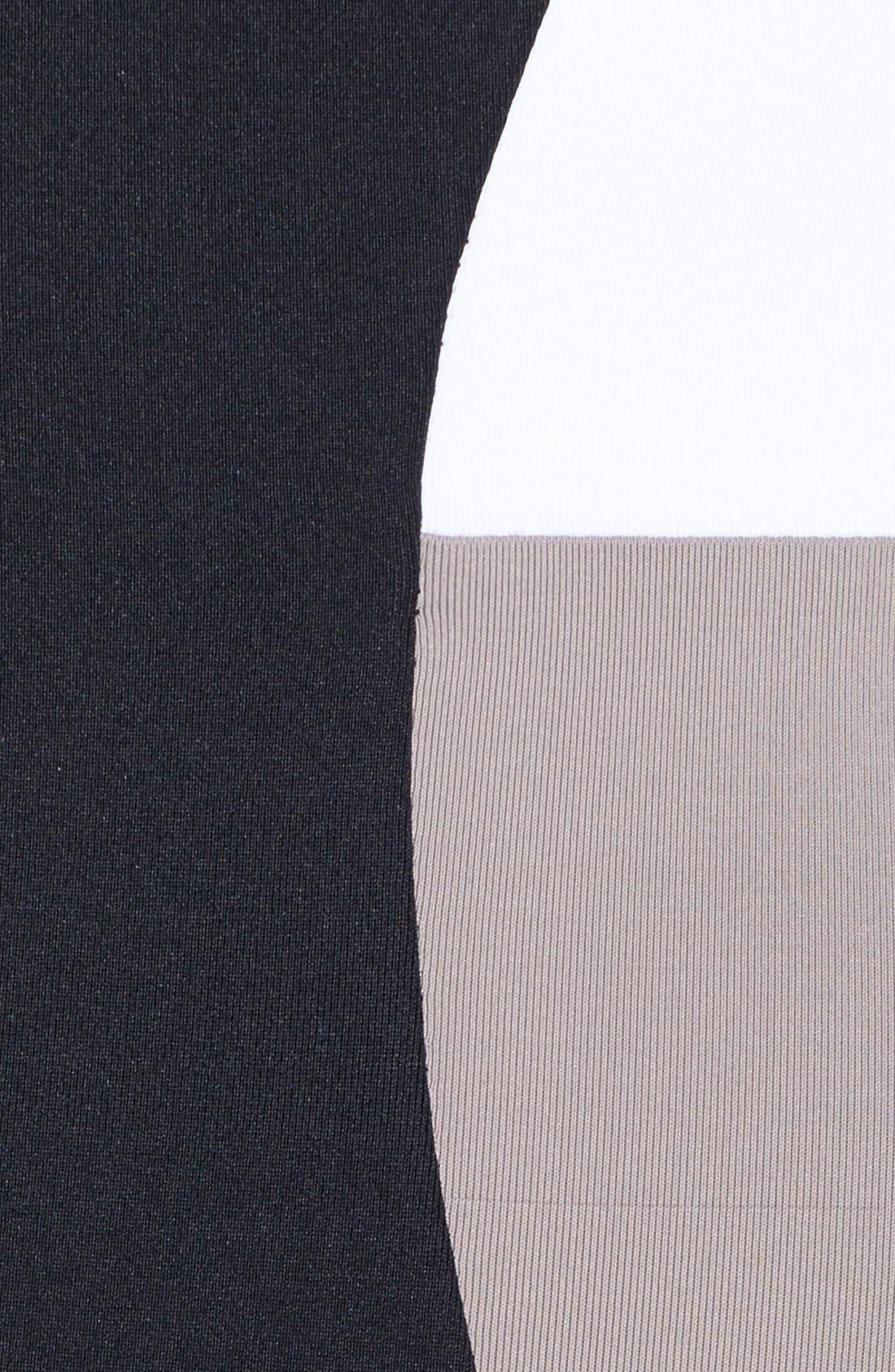 Colorblock Bandeau Swimsuit,                             Alternate thumbnail 3, color,                             001