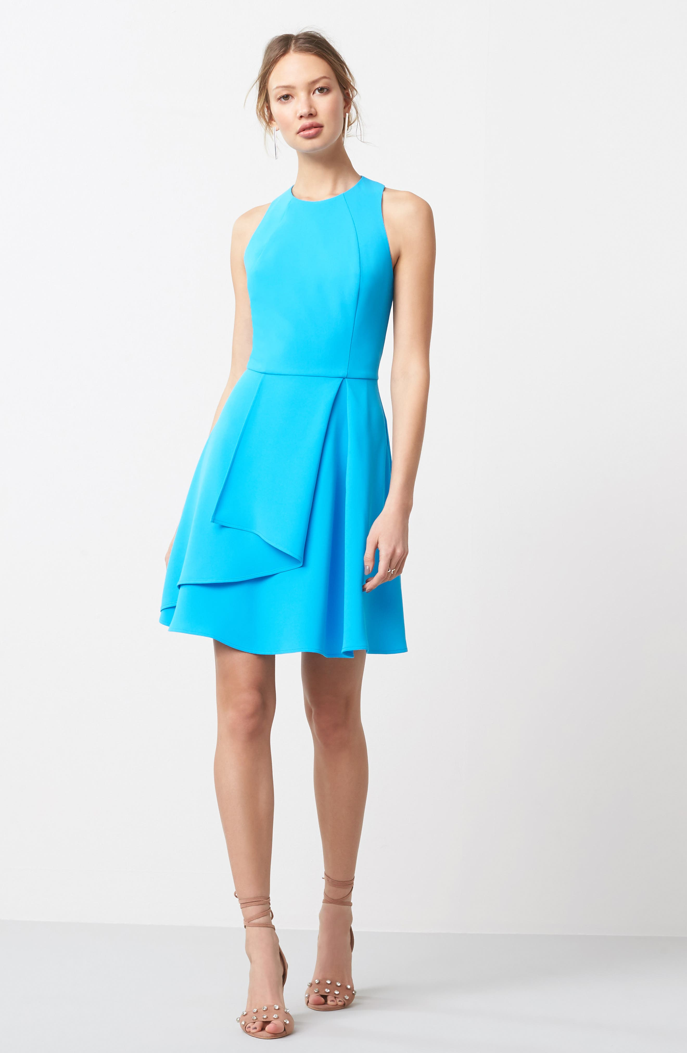 Athena Fit & Flare Dress,                             Alternate thumbnail 19, color,