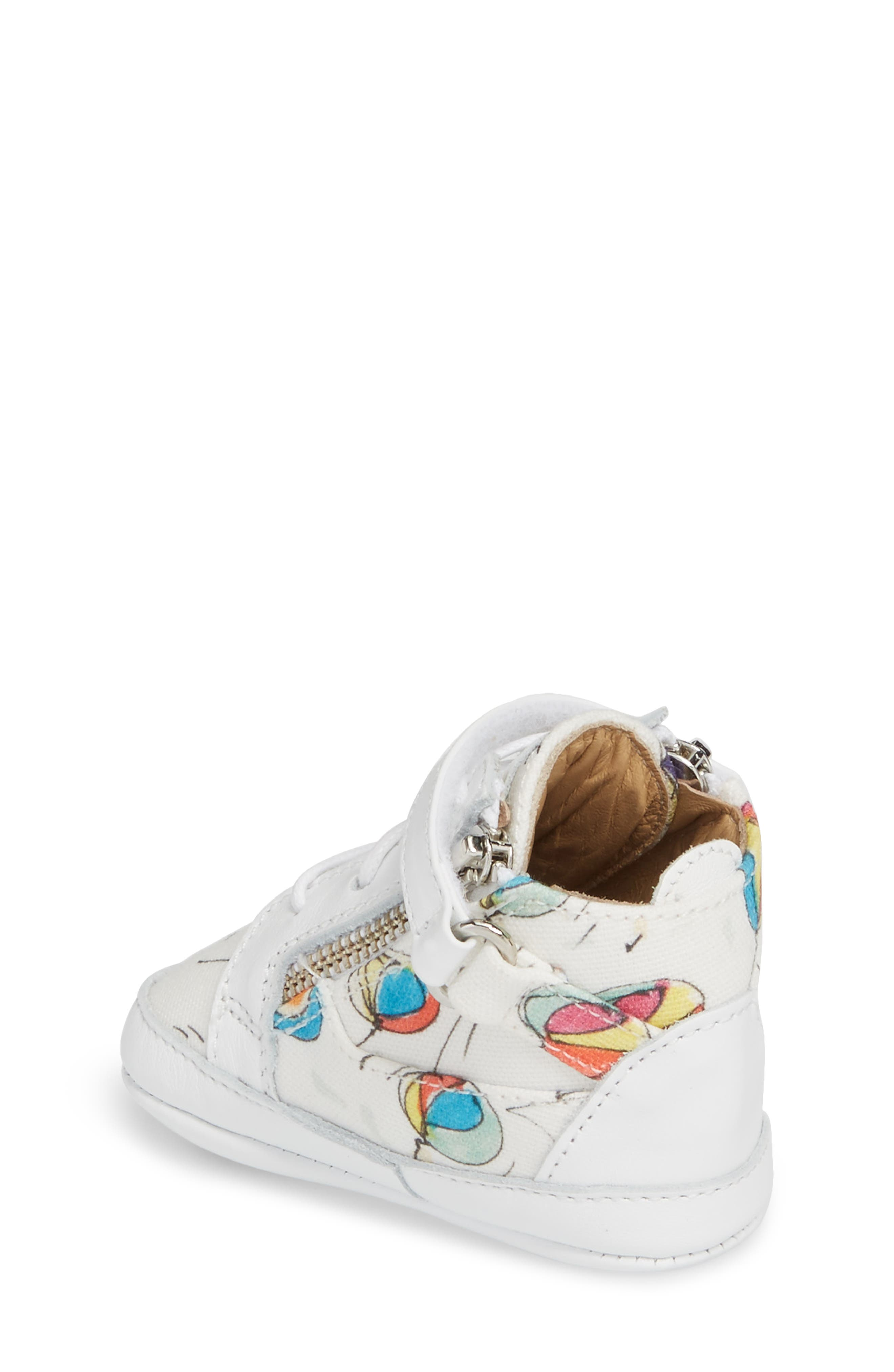 Culla London High Top Crib Sneaker,                             Alternate thumbnail 5, color,