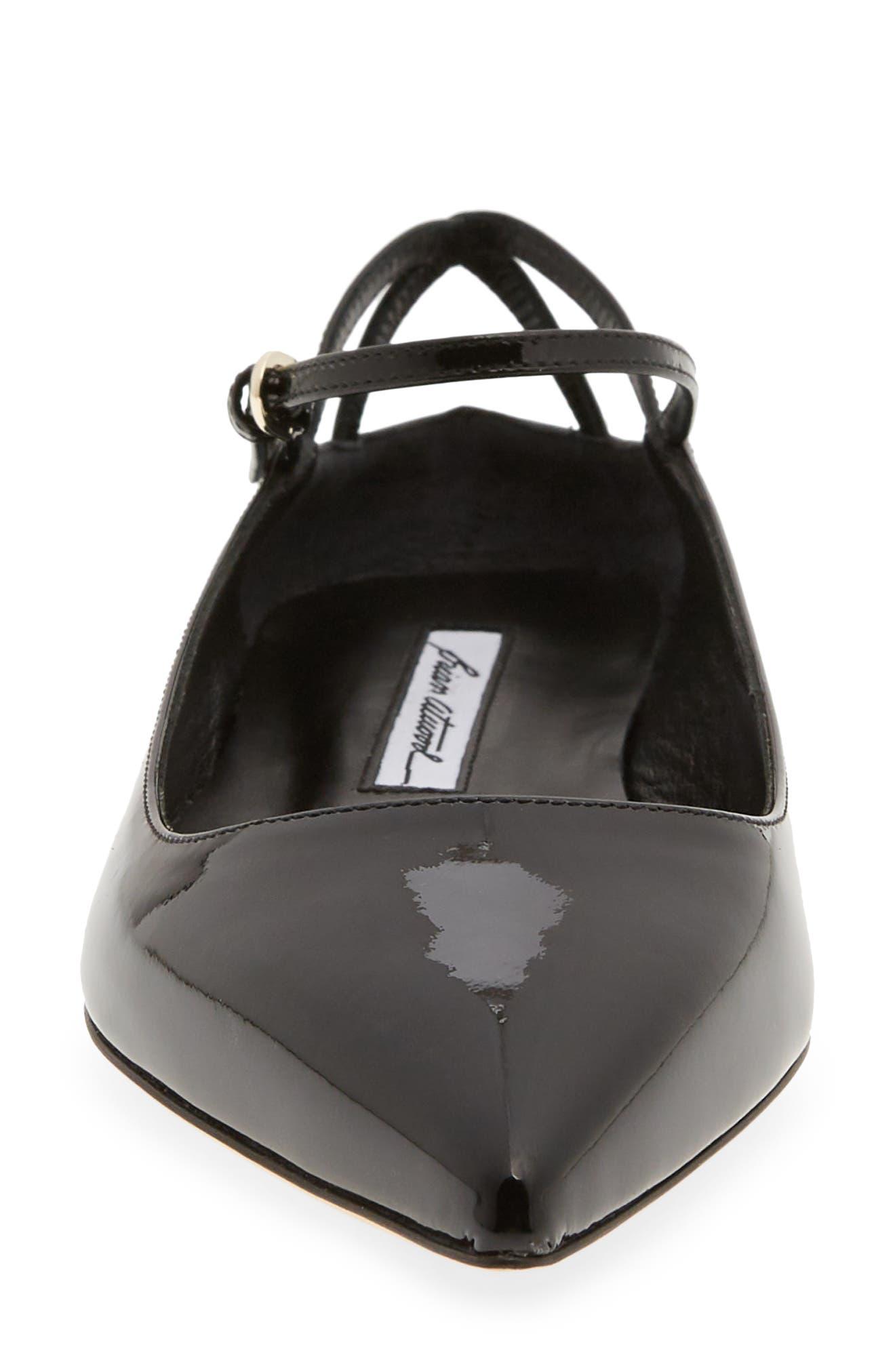 Astrid Ankle Strap Flat,                             Alternate thumbnail 4, color,                             BLACK PATENT