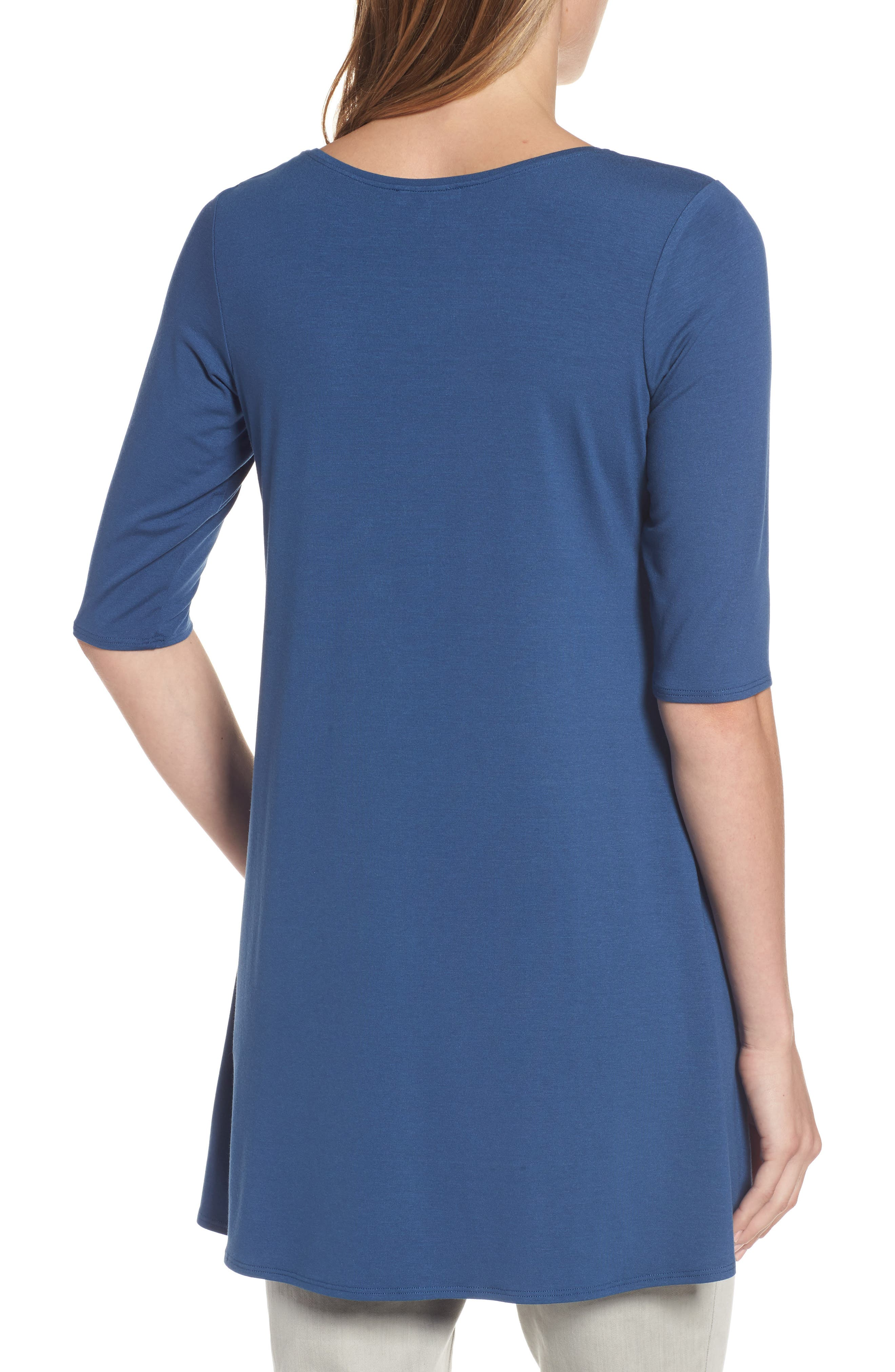Scoop Neck Elbow Sleeve Jersey Tunic,                             Alternate thumbnail 28, color,
