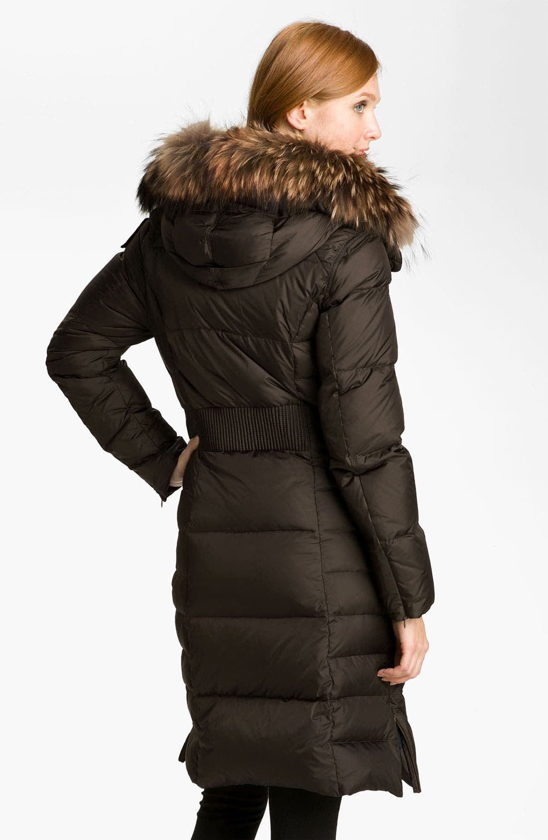 Down Coat with Genuine Raccoon Fur Trim,                             Alternate thumbnail 2, color,                             200