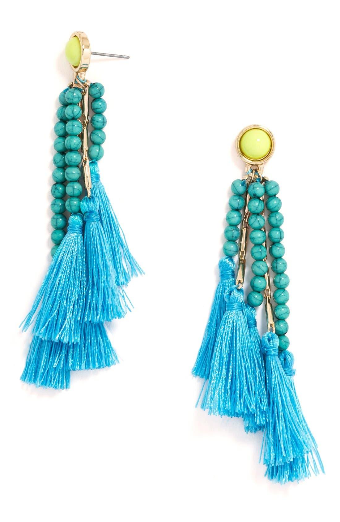 BAUBLEBAR,                             'Adriatic' Beaded Drop Earrings,                             Main thumbnail 1, color,                             710
