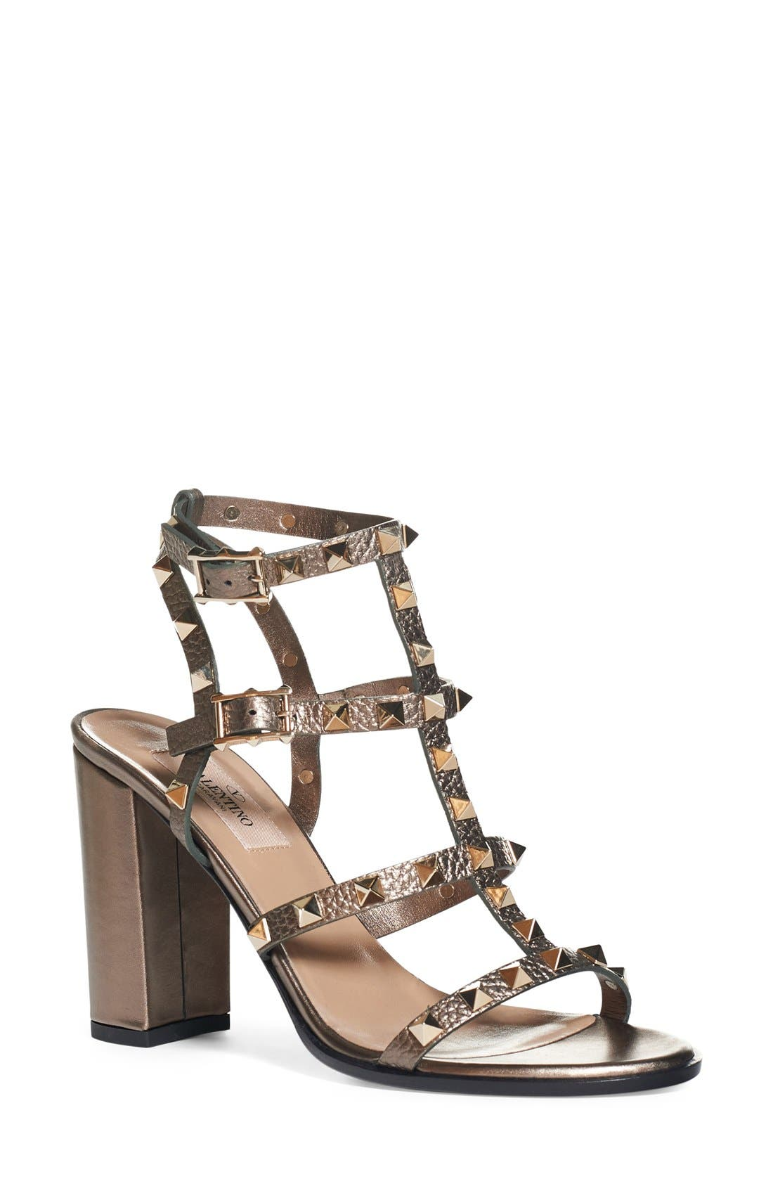 'Rockstud' Cage Sandal,                         Main,                         color, 229