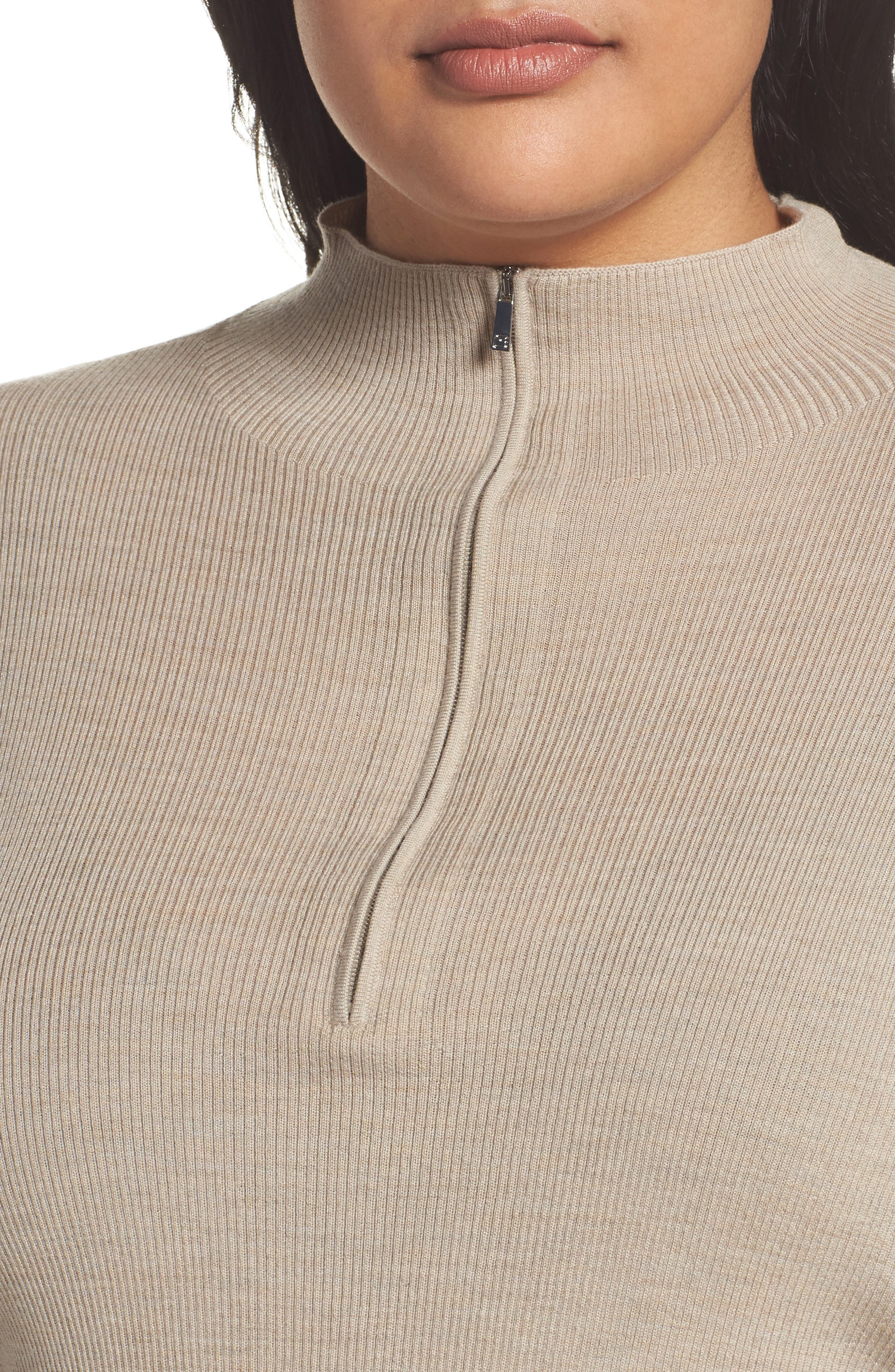 Skinny Ribbed Pullover,                             Alternate thumbnail 4, color,