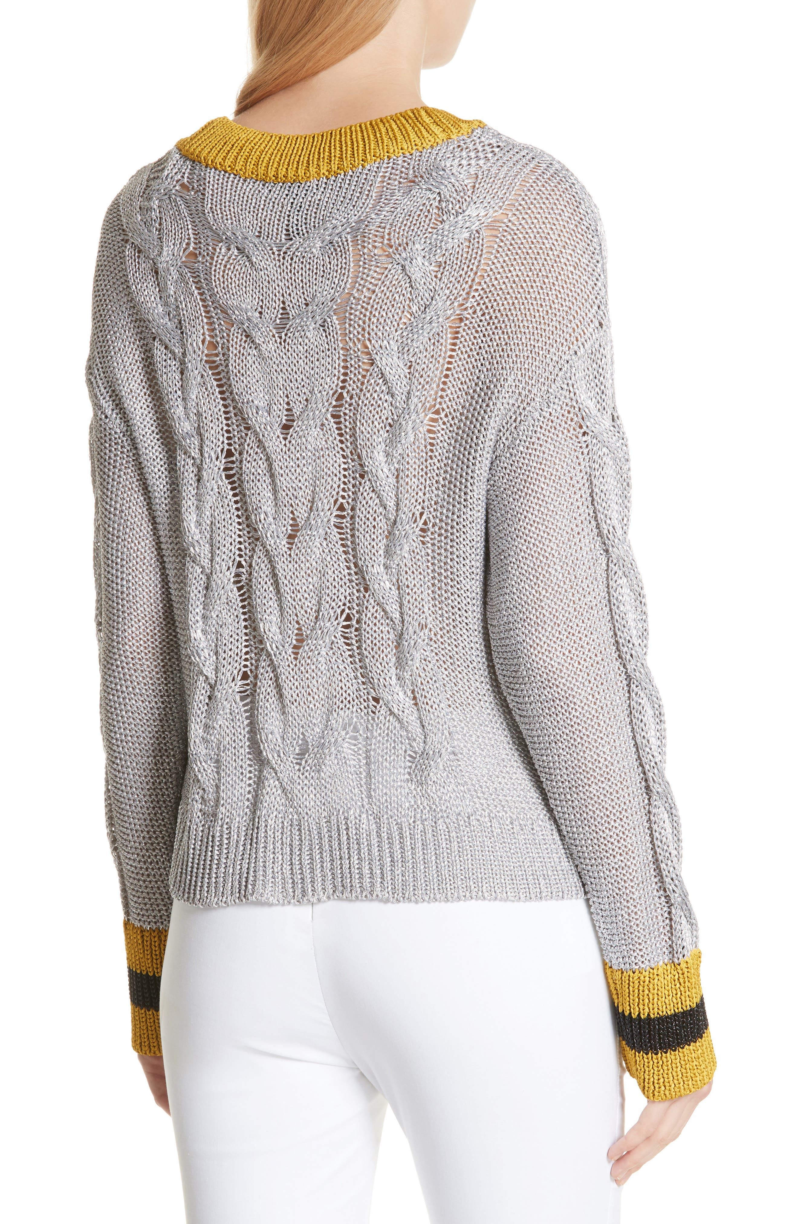 Emma Cable Knit Sweater,                             Alternate thumbnail 2, color,                             023