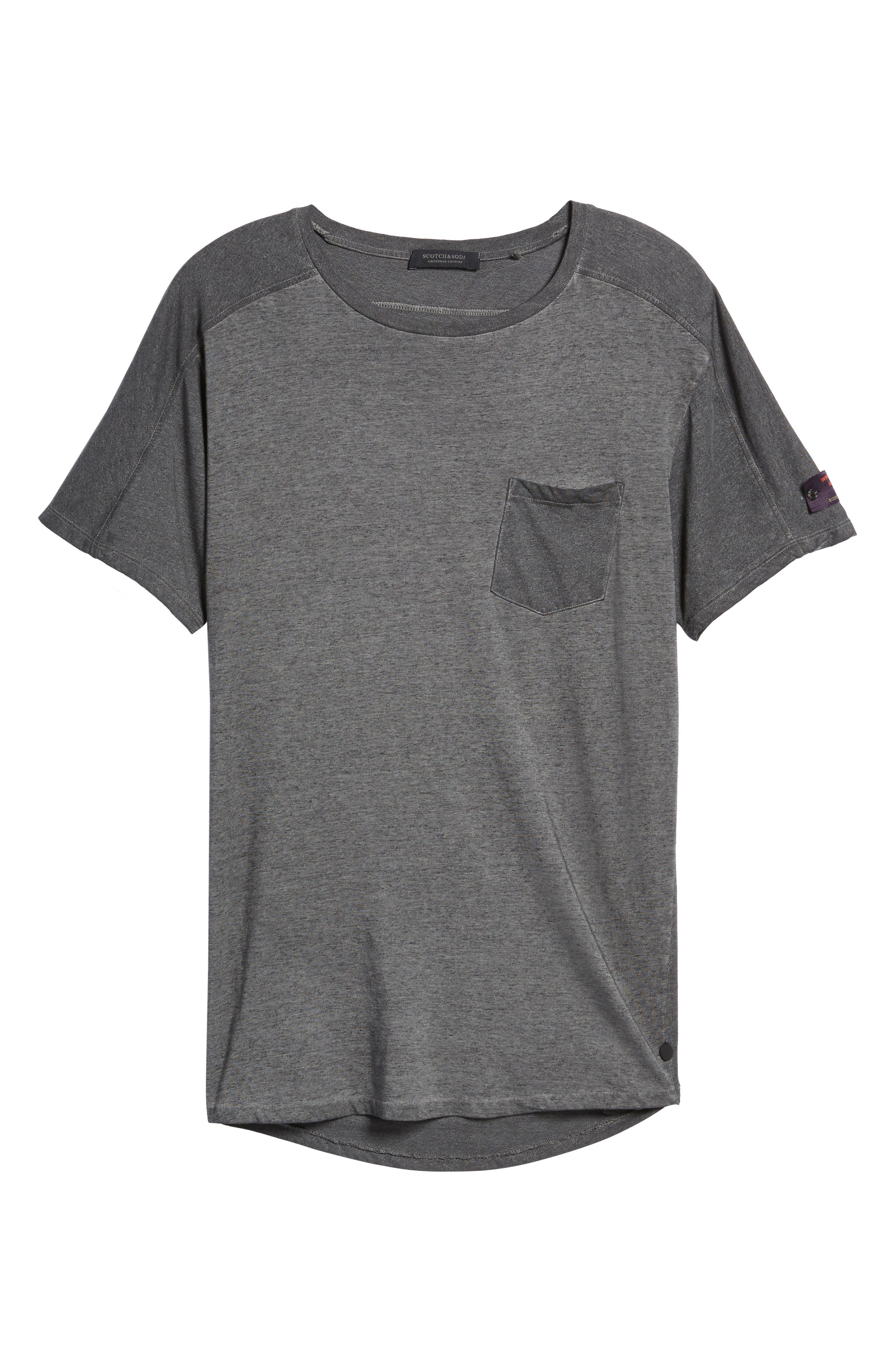 Oil-Washed Pocket T-Shirt,                             Alternate thumbnail 6, color,                             021