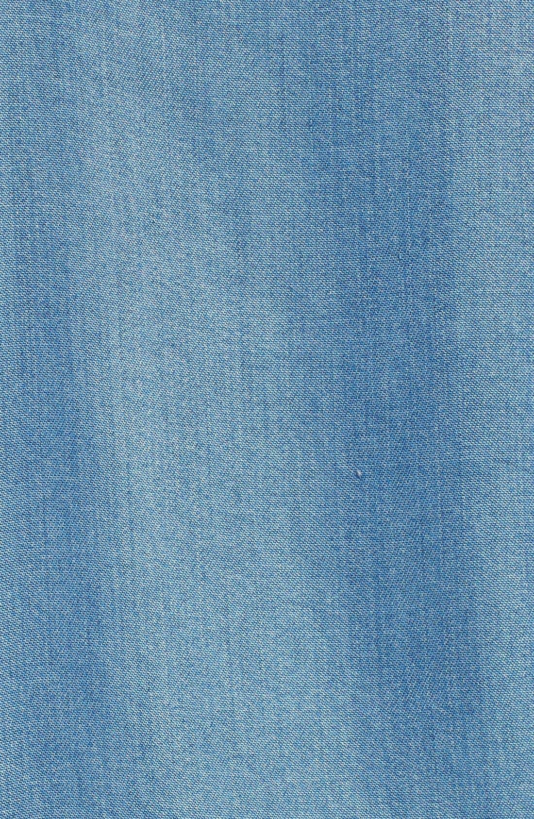 'Quianna' Chambray Tunic Dress,                             Alternate thumbnail 2, color,                             400