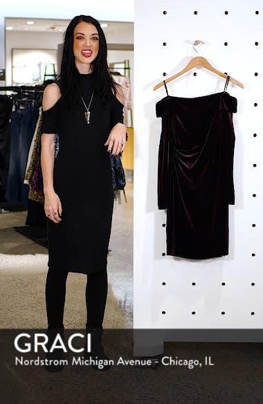 Off the Shoulder Velvet Sheath Dress, sales video thumbnail