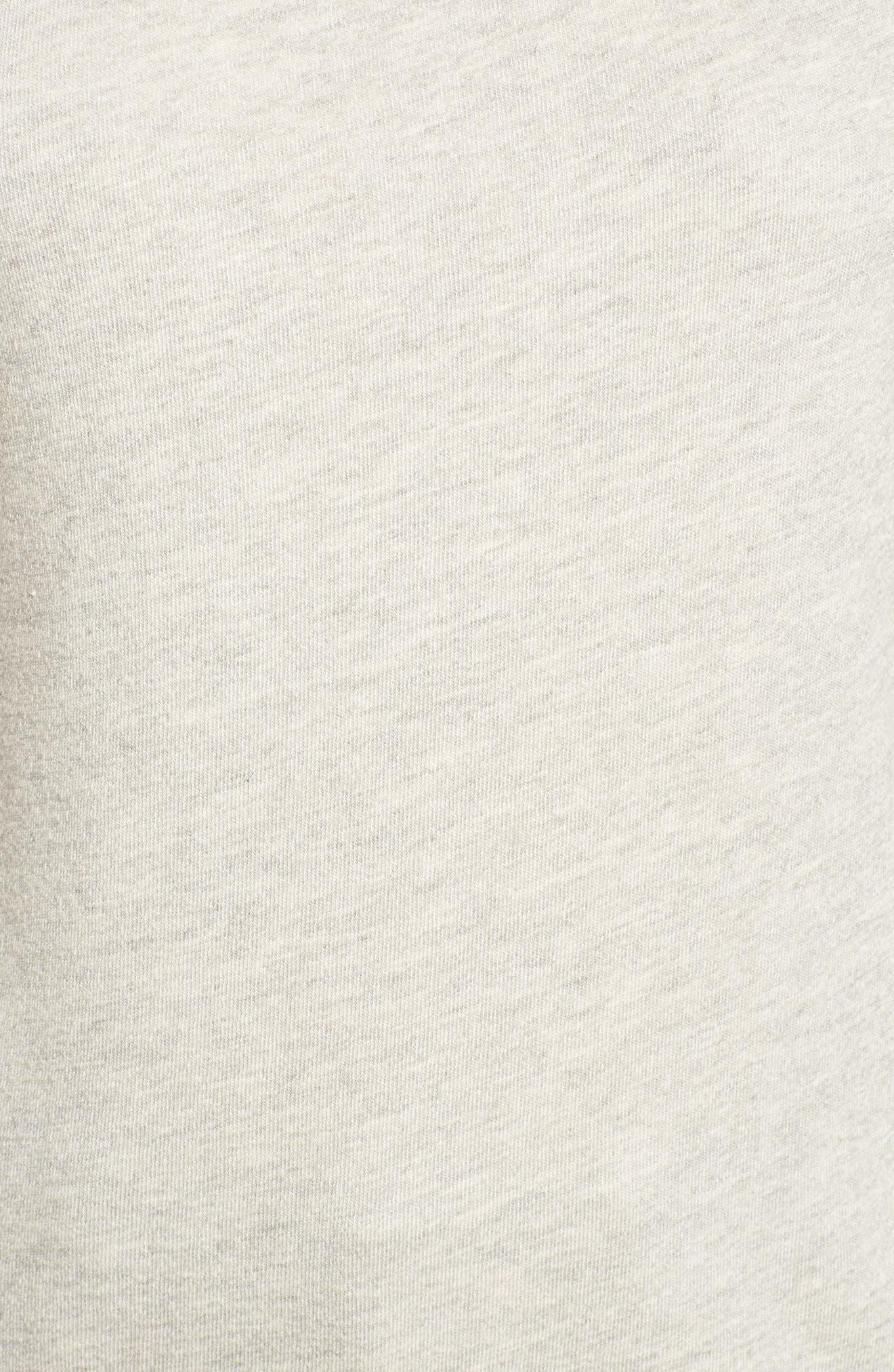 One-Shoulder Sweatshirt,                             Alternate thumbnail 5, color,