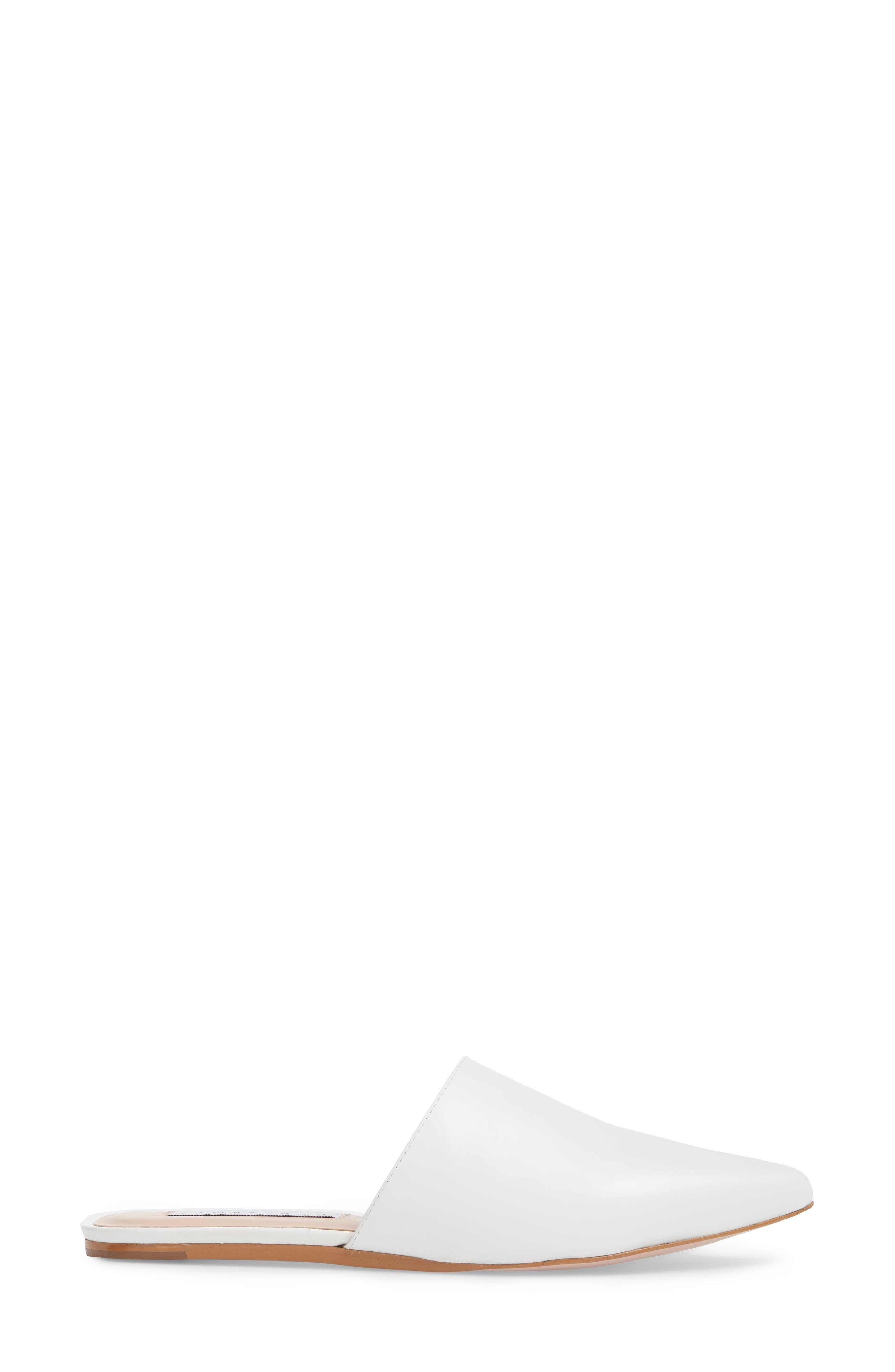 Tessa Mule,                             Alternate thumbnail 3, color,                             WHITE LEATHER