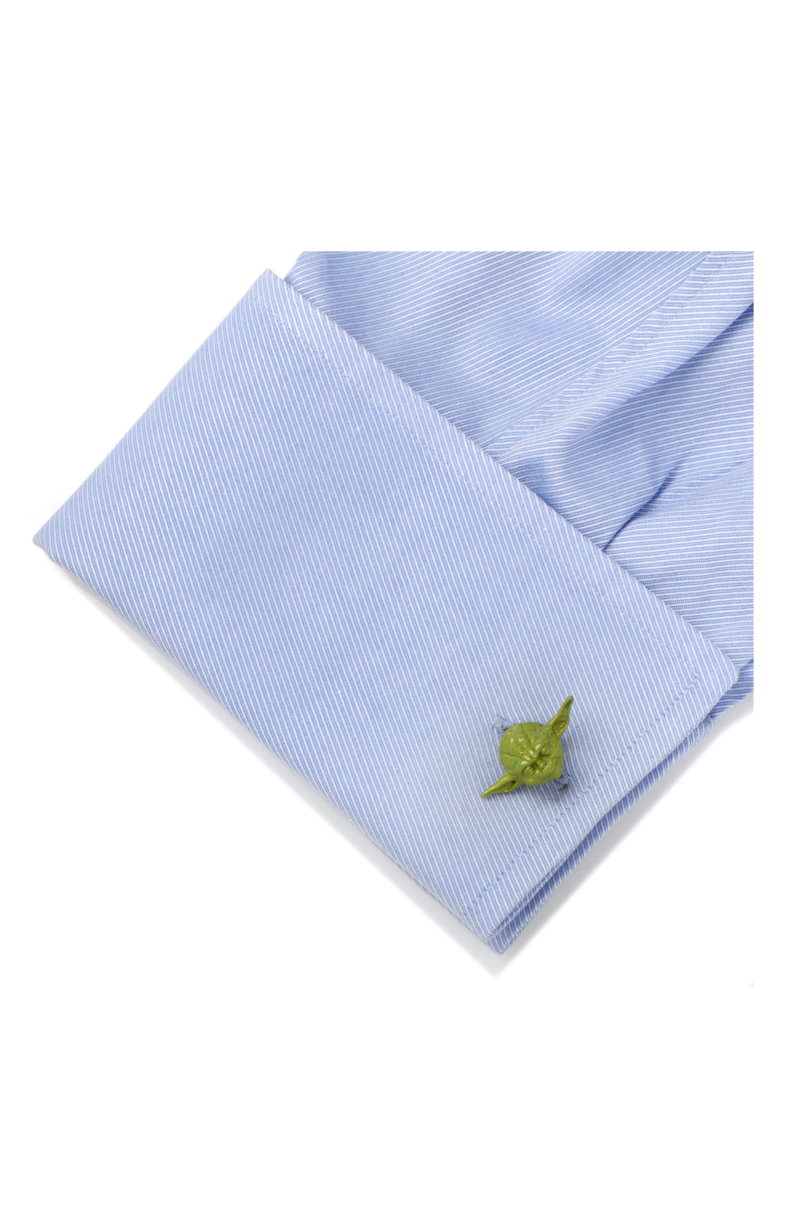 Star Wars<sup>™</sup> Yoda 3D Cuff Links,                             Alternate thumbnail 2, color,                             300