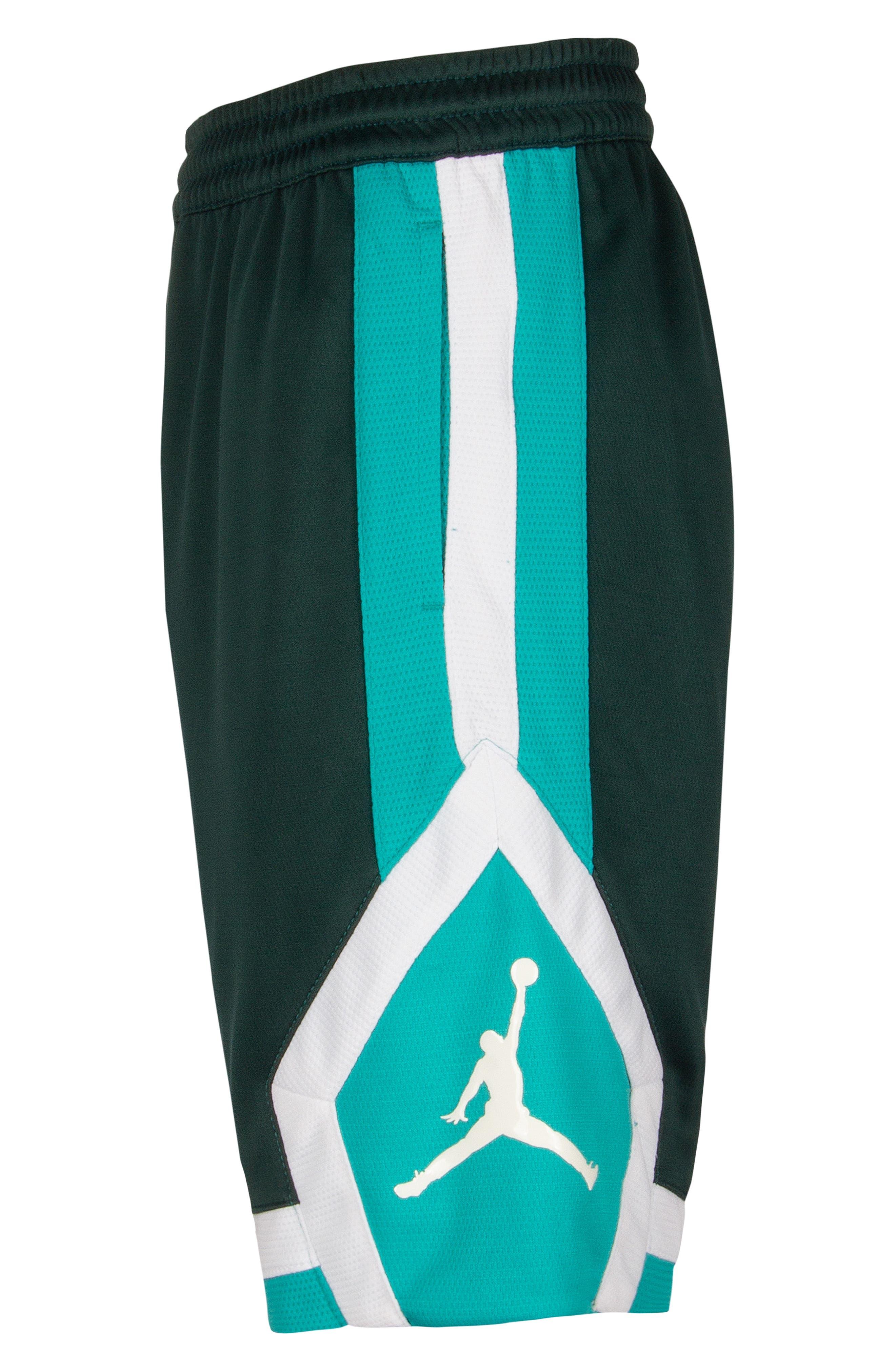 Jordan Rise Athletic Shorts,                             Alternate thumbnail 5, color,                             MIDNIGHT SPRUCE