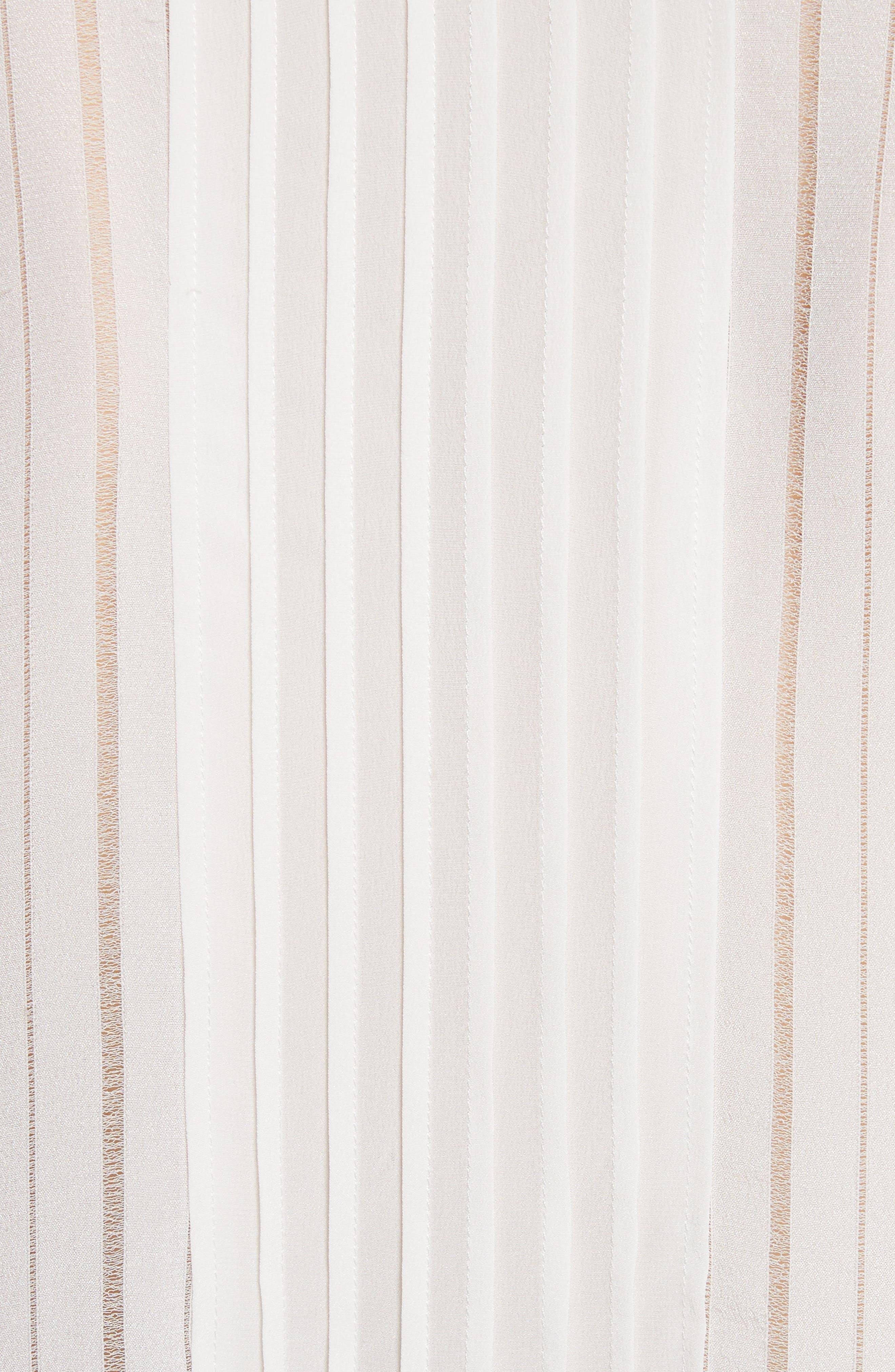 Silk & Lace Long Sleeve Blouse,                             Alternate thumbnail 5, color,                             178