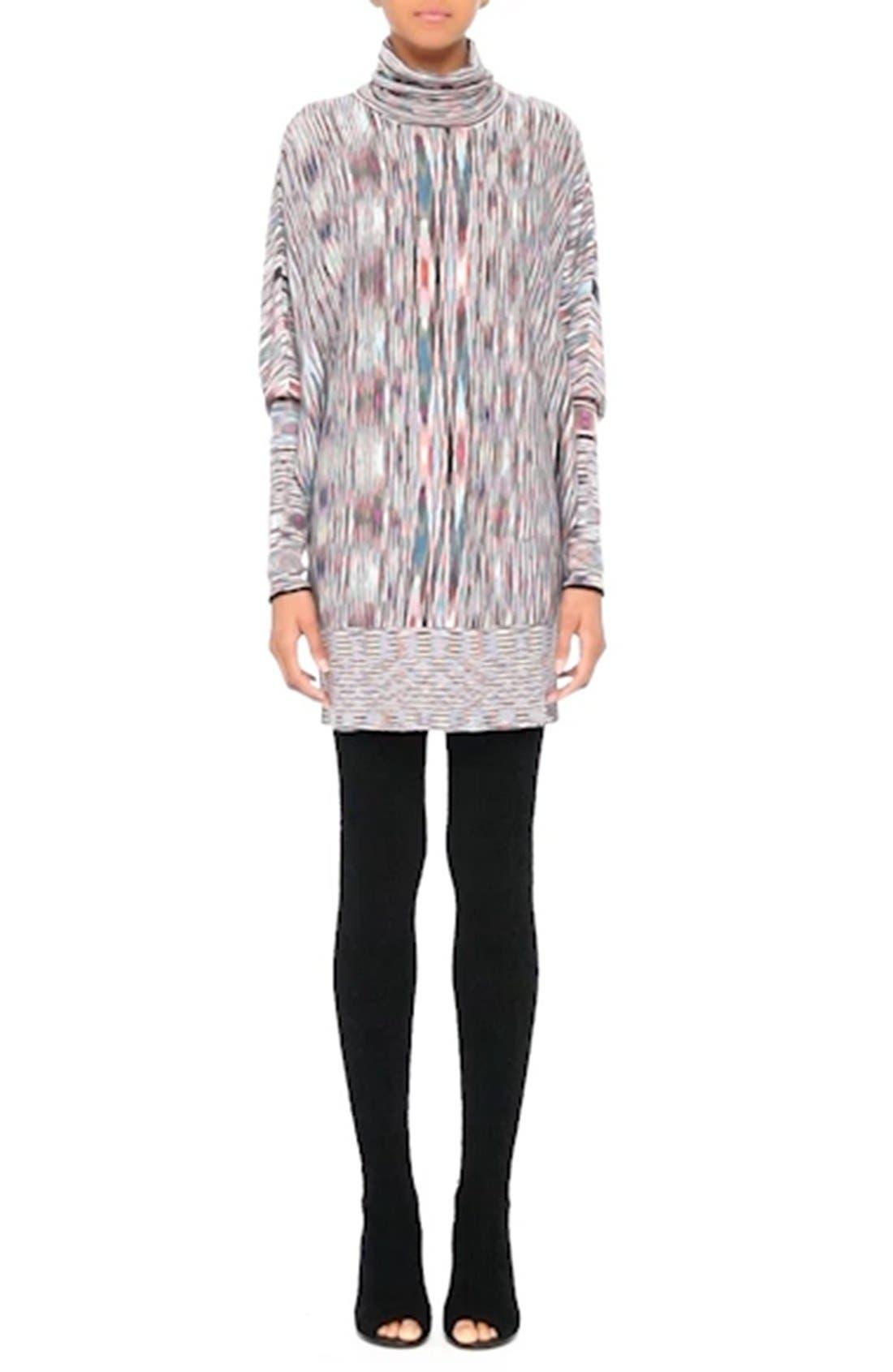 Space Dye Knit Dress,                             Alternate thumbnail 9, color,                             001
