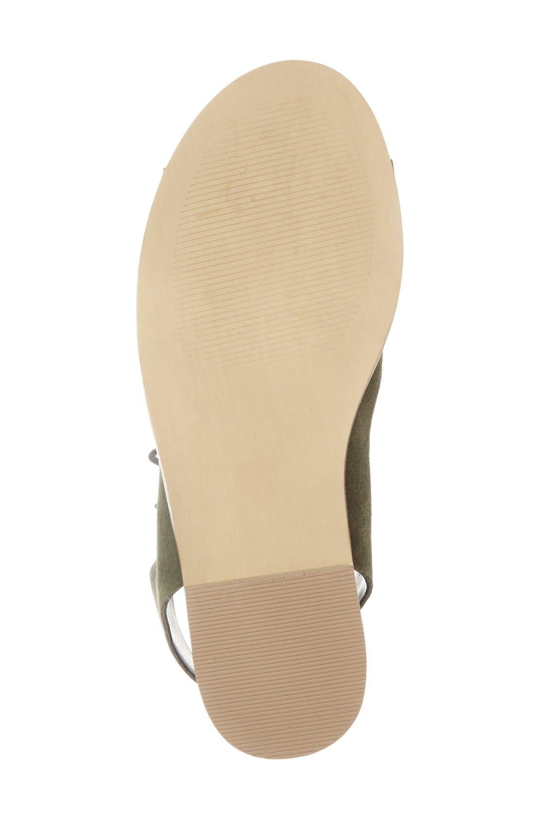 'Cady' Lace-Up Flat Sandal,                             Alternate thumbnail 15, color,