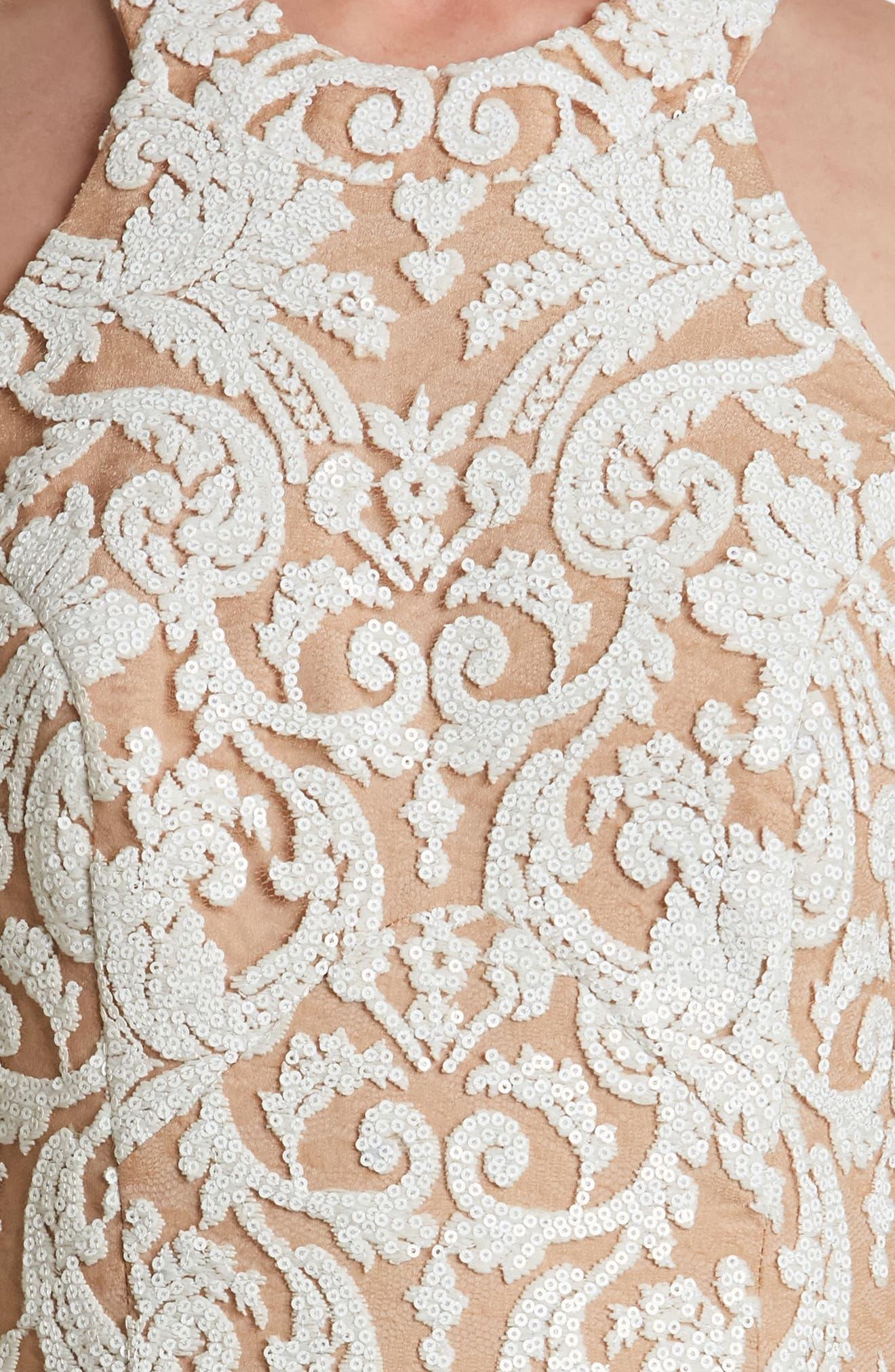 Cassie Sequin Midi Dress,                             Alternate thumbnail 22, color,