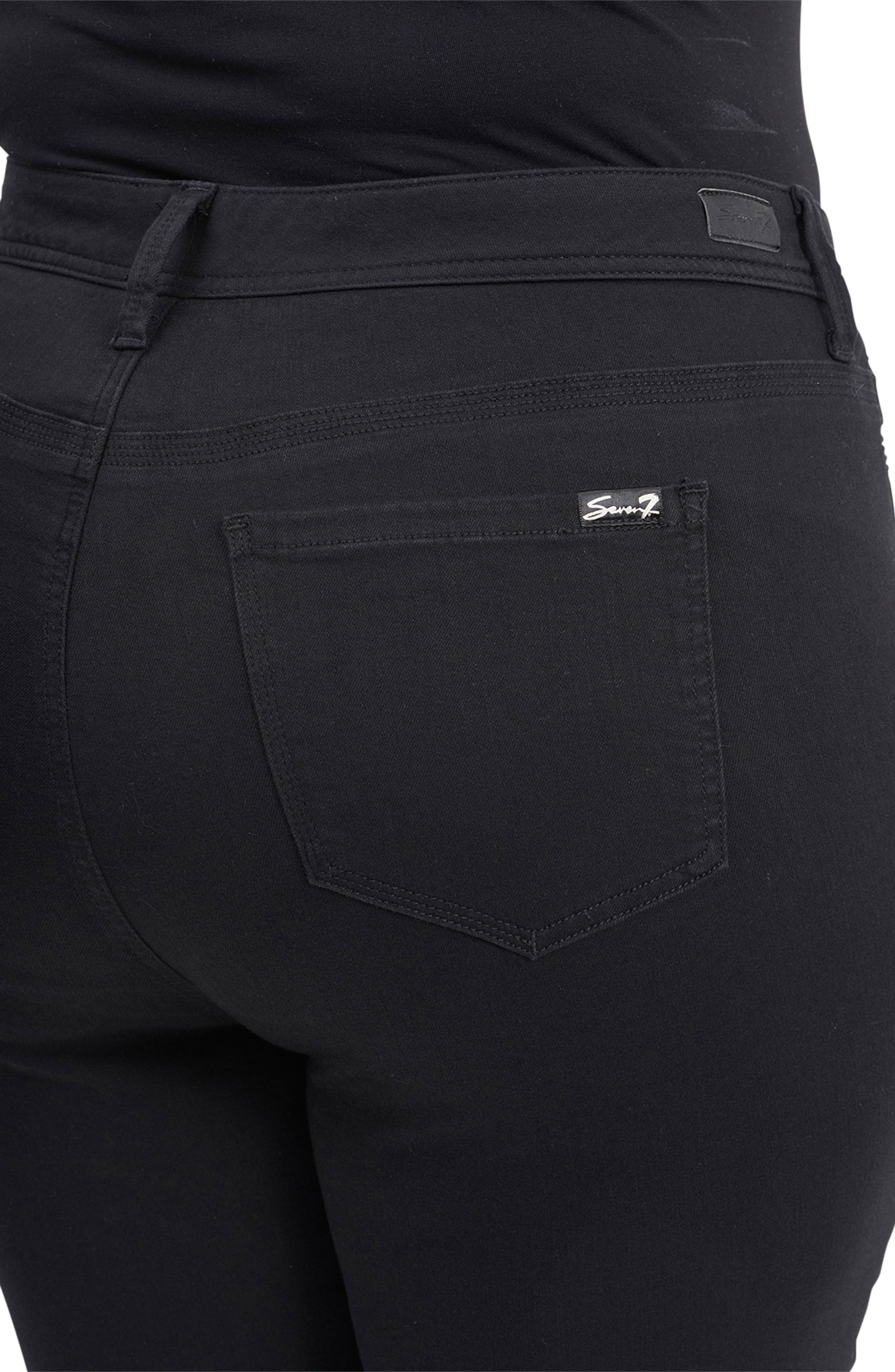 Tummyless High Rise Skinny Jeans,                             Alternate thumbnail 4, color,                             NUIT