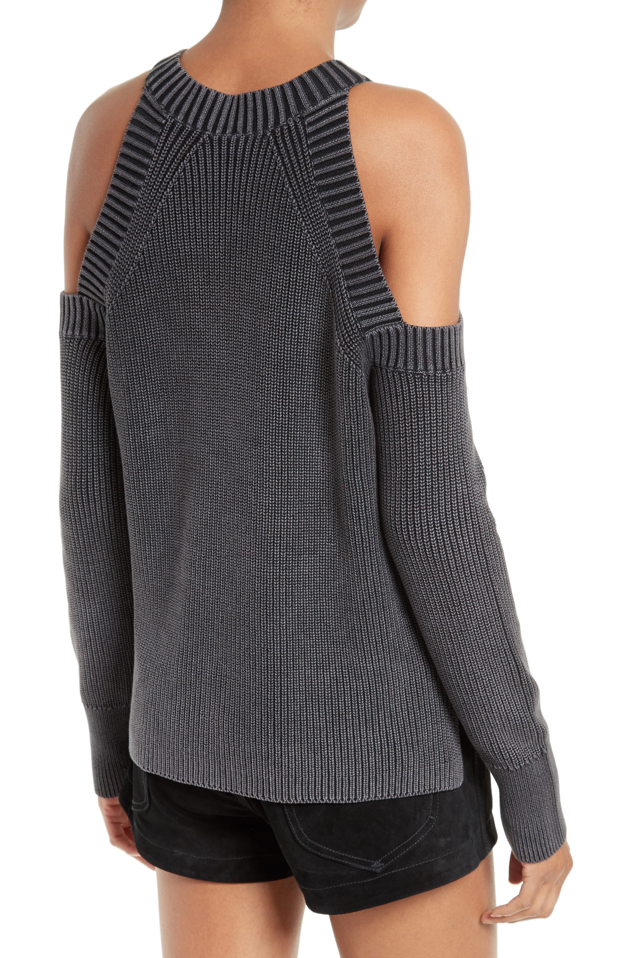 RAG & BONE,                             JEAN Dana Cold Shoulder Sweater,                             Alternate thumbnail 2, color,                             001