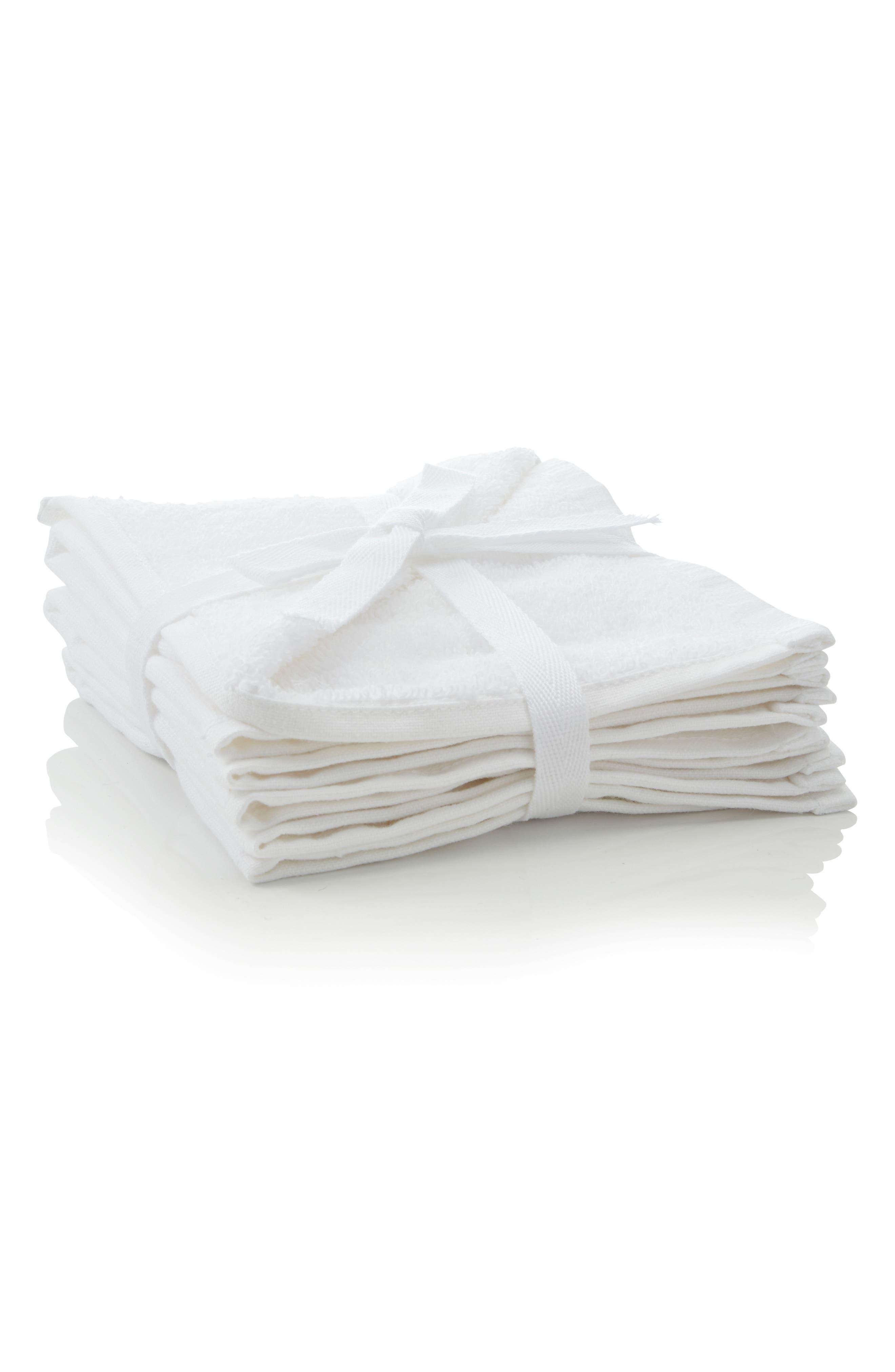 Set of 3 Washcloths,                             Alternate thumbnail 2, color,                             100