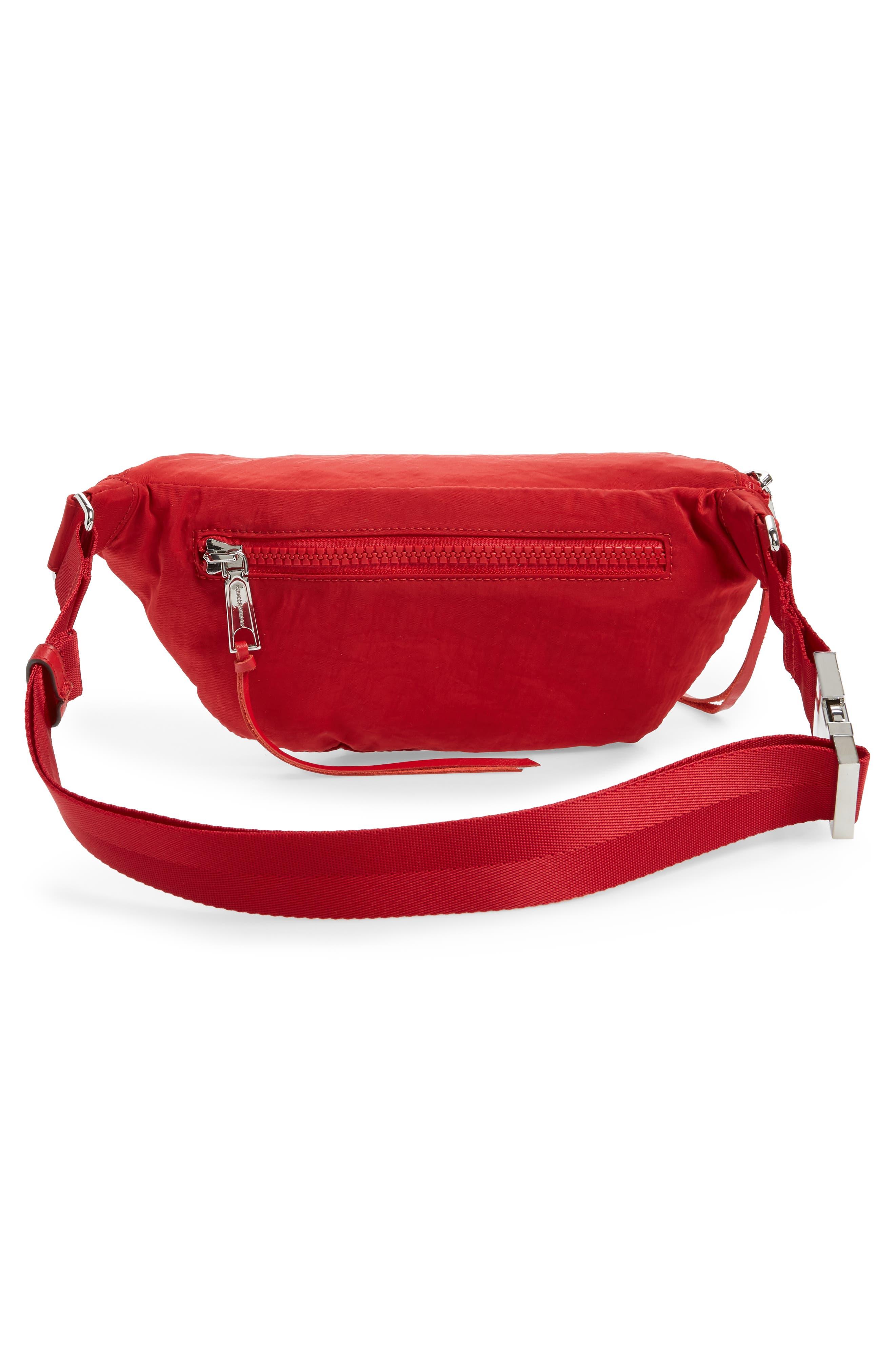 Nylon Belt Bag,                             Alternate thumbnail 4, color,                             SCARLET